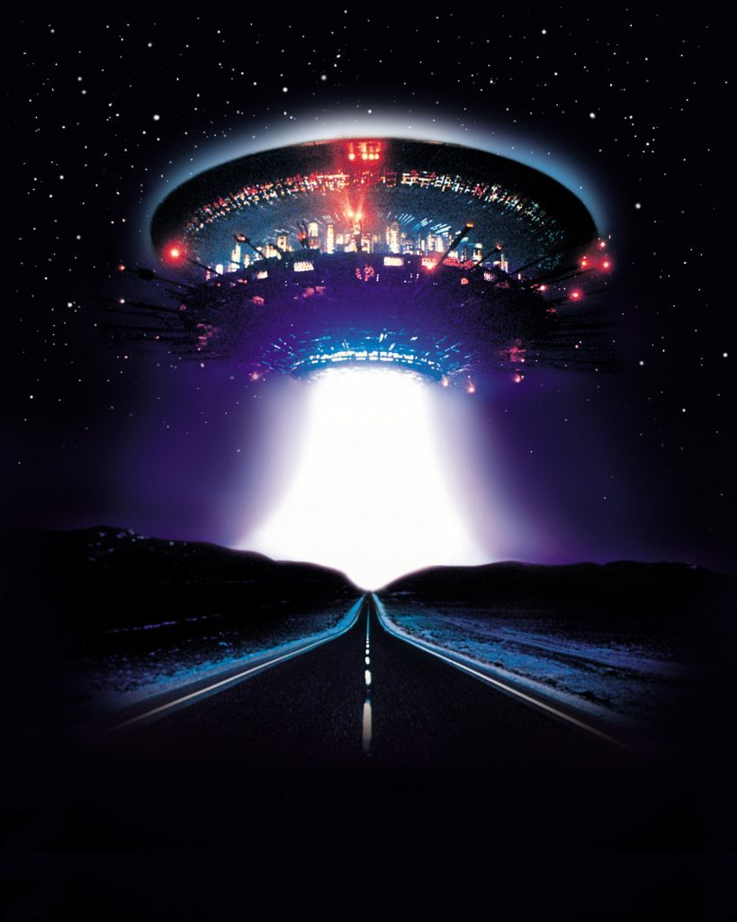 An image from the 1977 film Close Encounter of the Third Kind. Can film influence what people think they have seen?