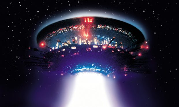 An image from the 1977 film Close Encounters of the Third Kind.
