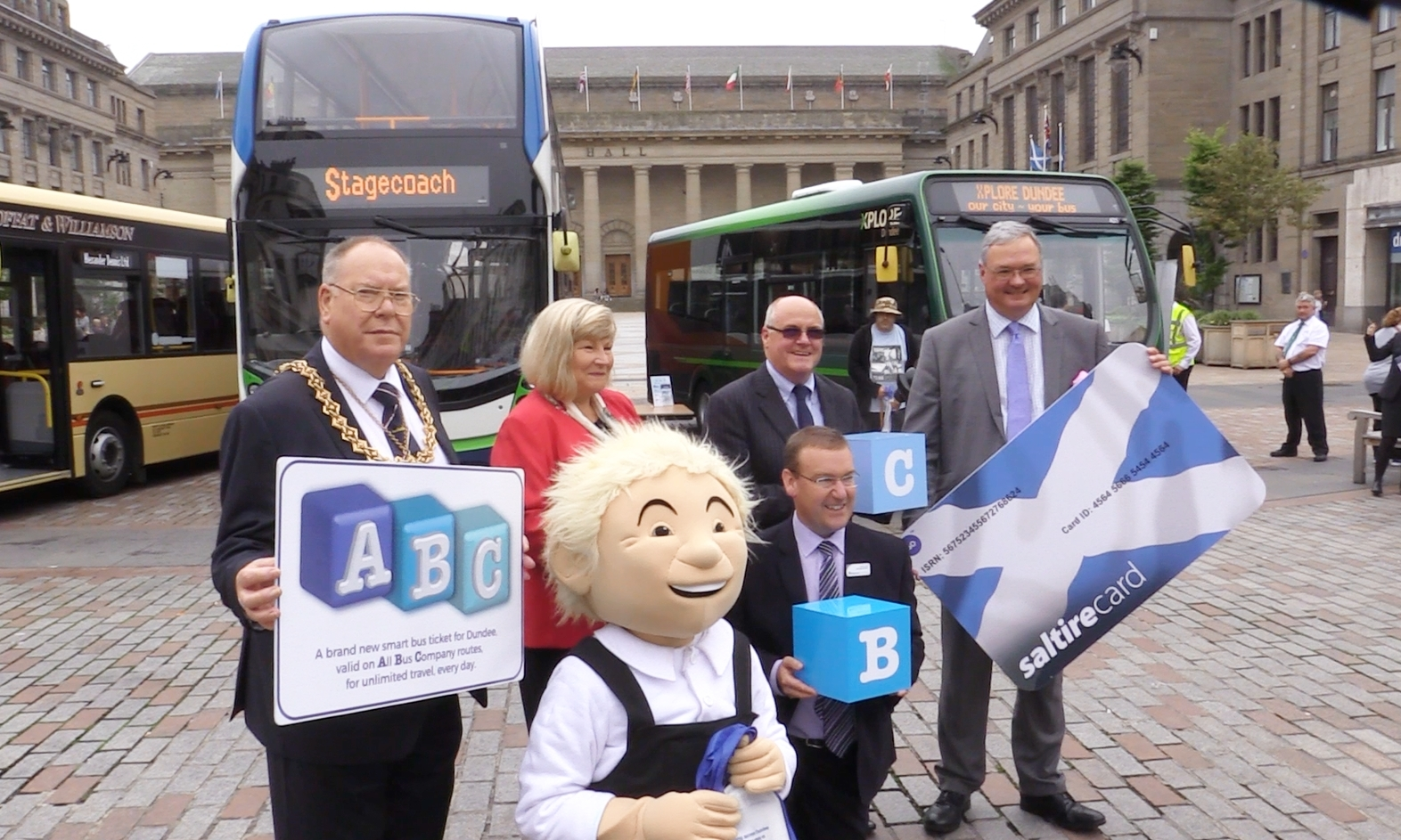 Oor Wullie helped launch the new ABC smart-card on Thursday