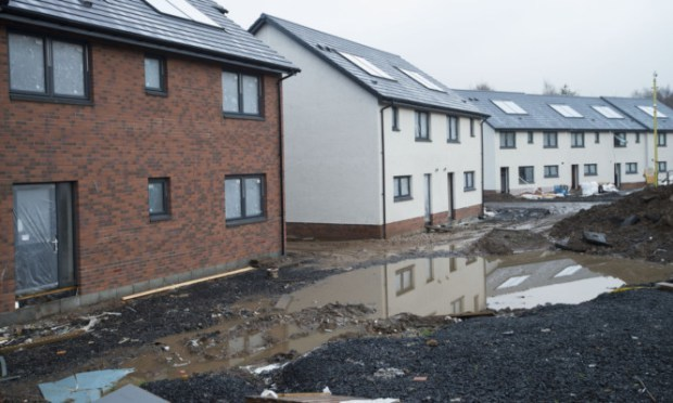 Houses on Lewis Terrace have been impacted by flooding during the work.