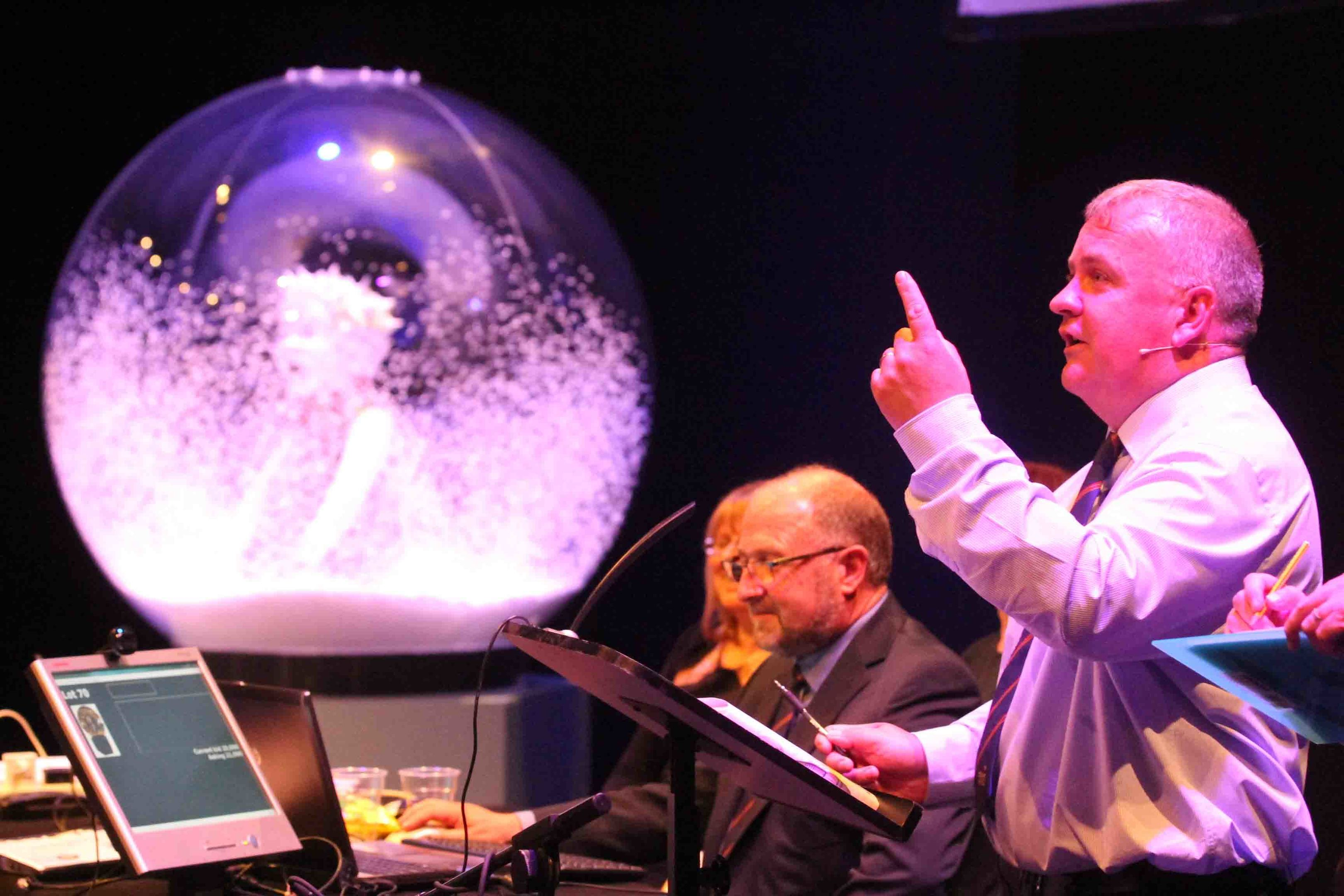 The snowglobe goes under the hammer