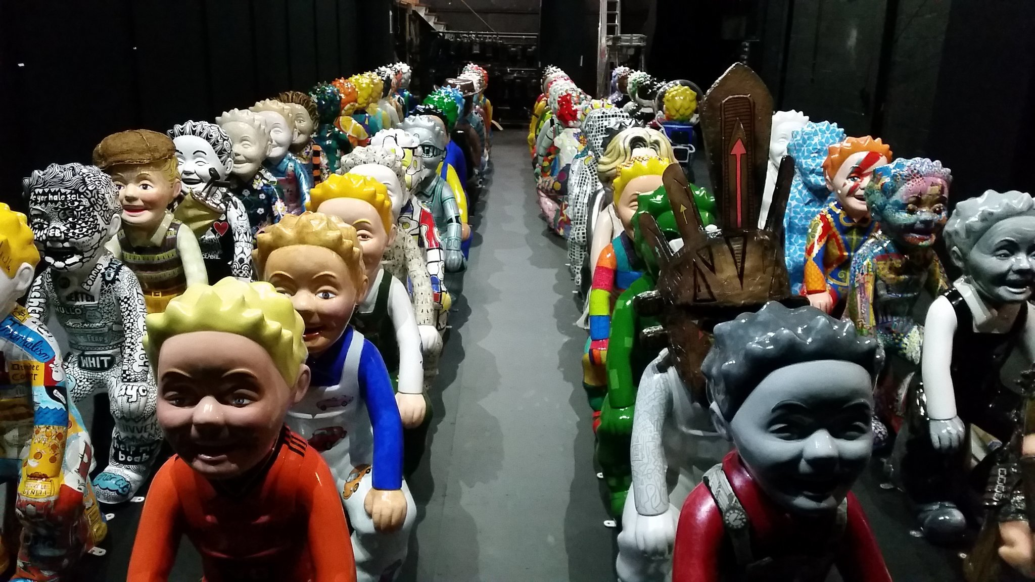 The statues at Dundee Rep, ready for auction.