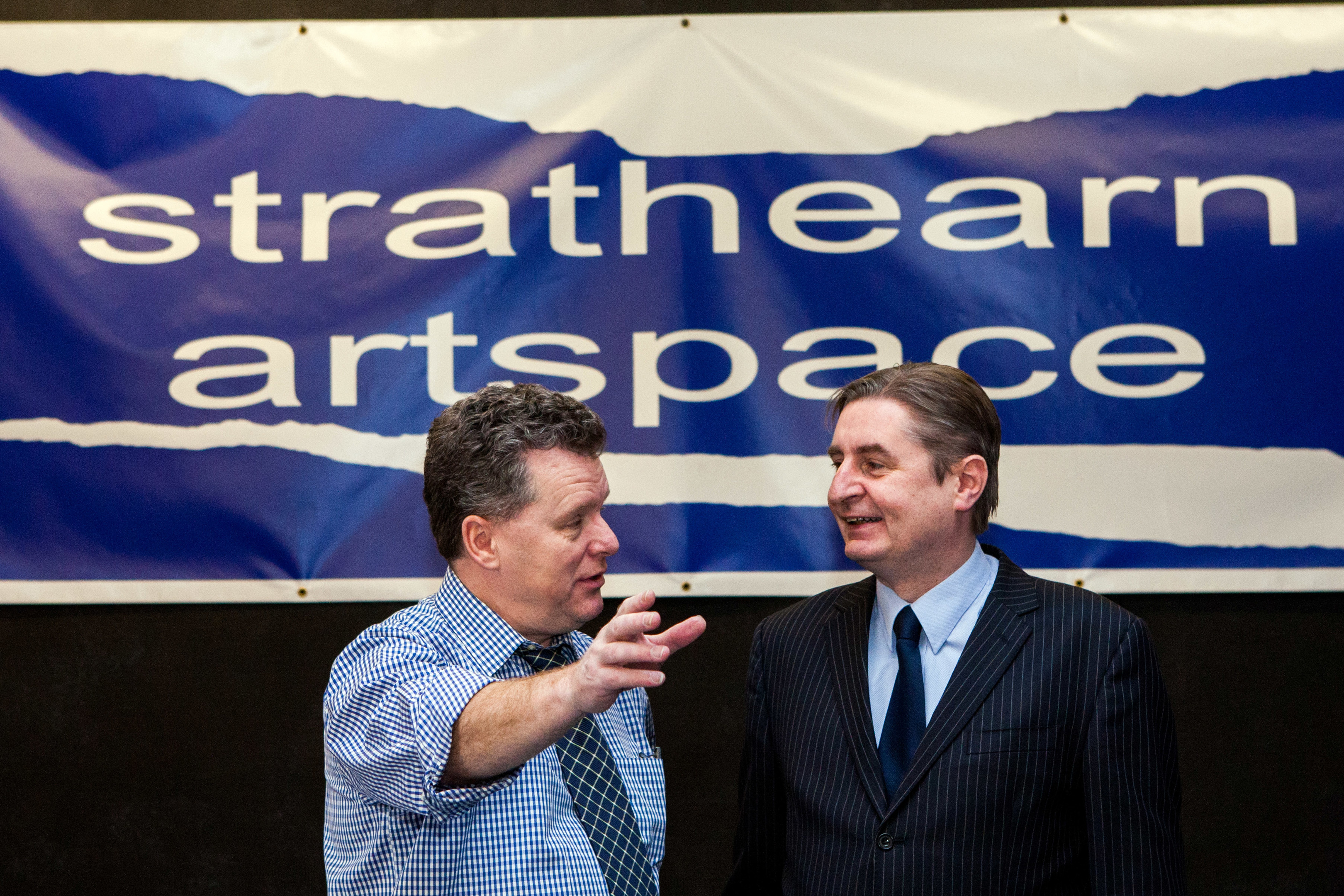 Tom Barron (left) and David Campbell (right), both of Strathearn Artspace, pictured at the Crieff venue.