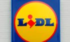 A general view of a Lidl supermarket logo.