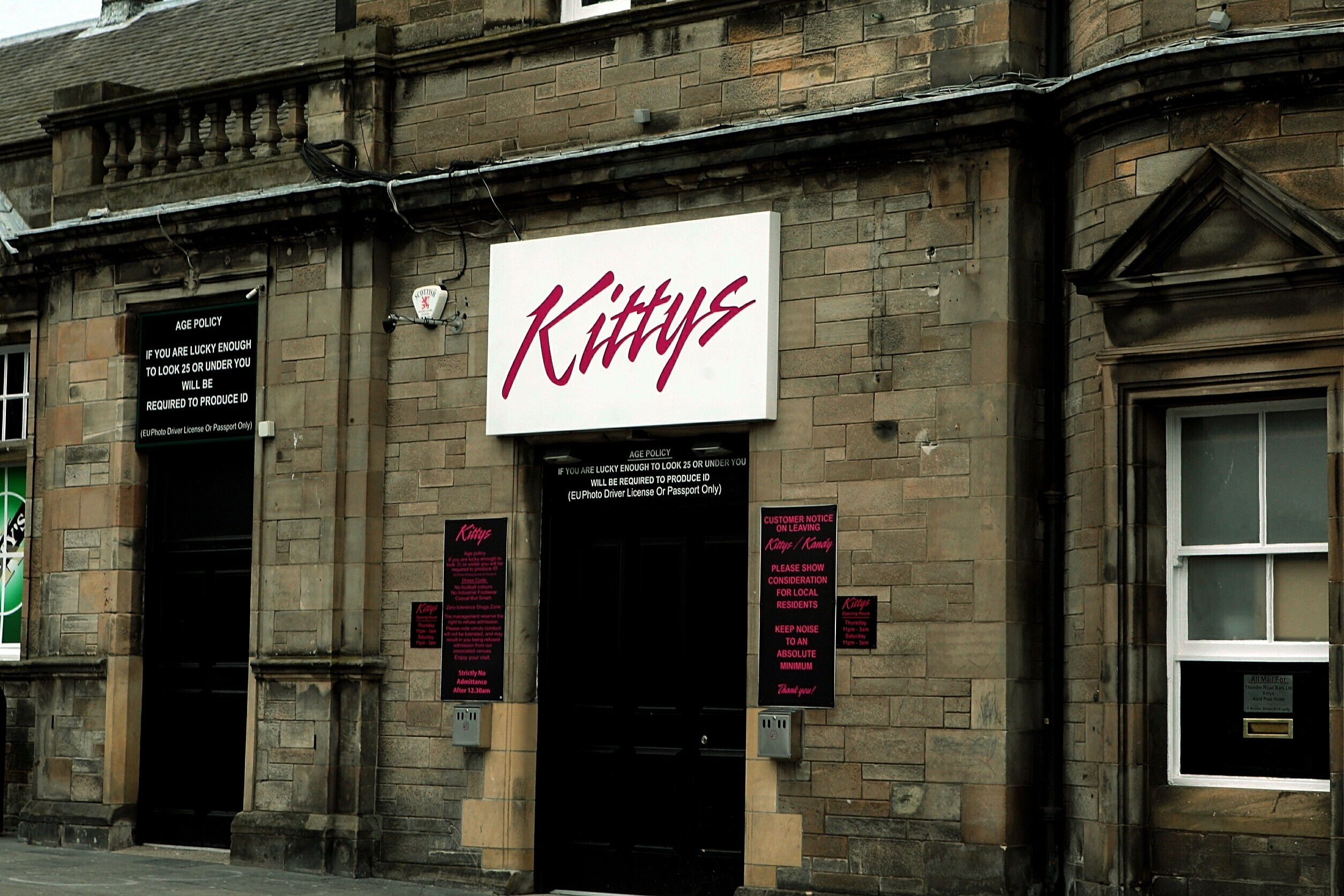 Kitty's nightclub in Kirkcaldy.