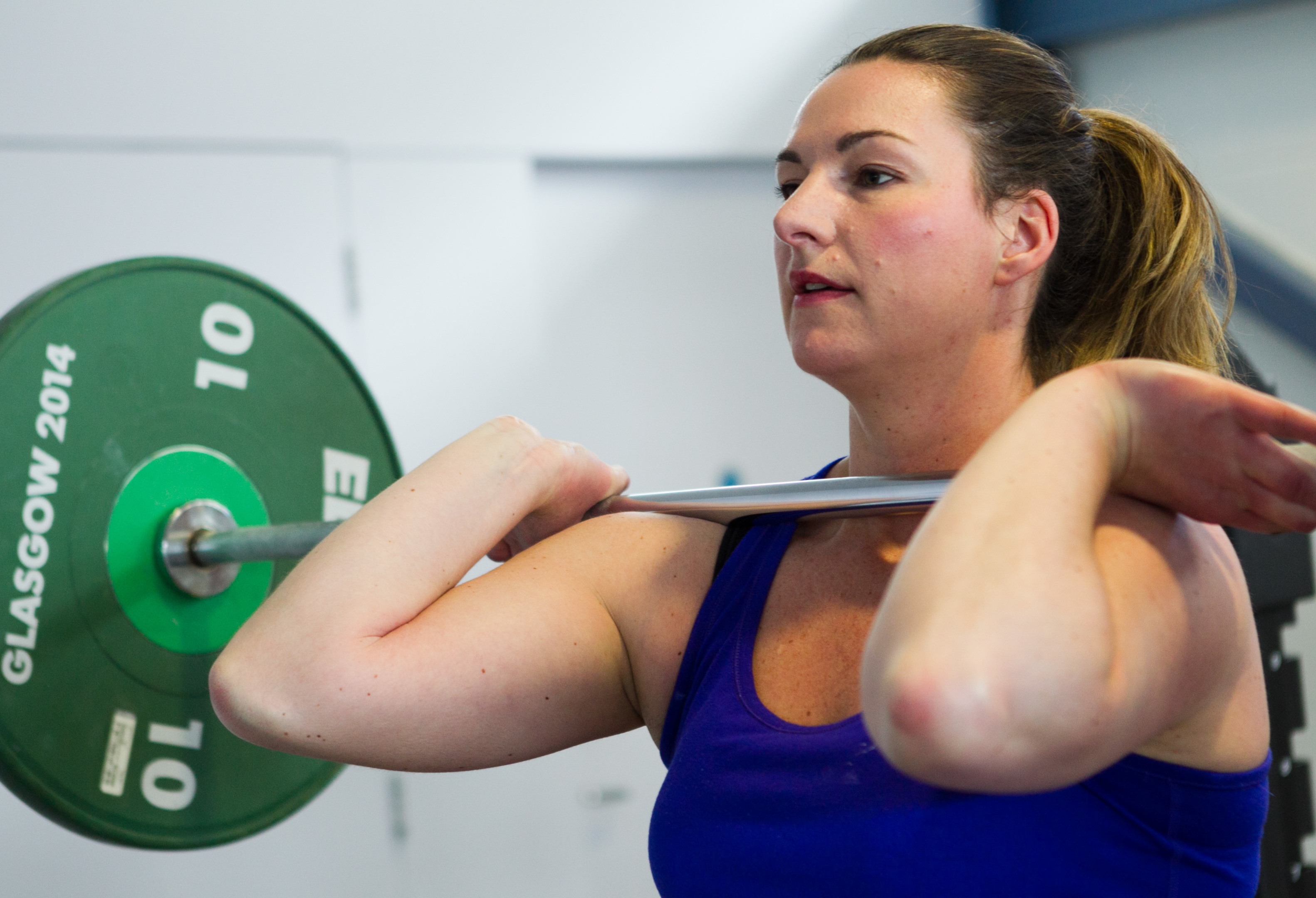 Helen Weavers, who is a lecturer at Dundee University, and also a champion weightlifter.