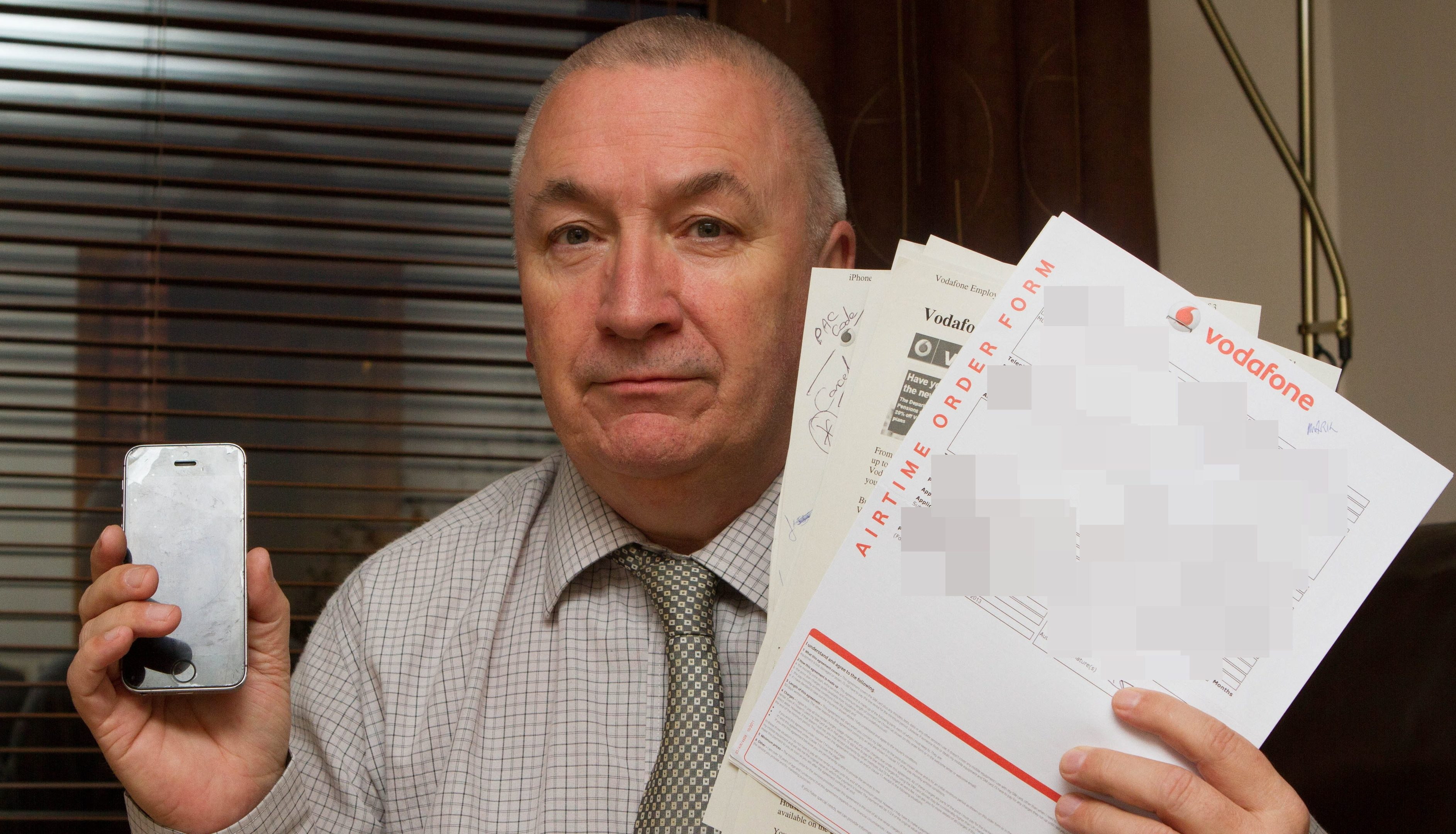 Lanark man Douglas Sinton had to enlist the help of The Sunday Post's Raw Deal team in a billing dispute with Vodafone. Now the firm has been fined for serious customer service failings dating from 2013.