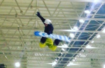 Snowboarder Alex Rooney in action