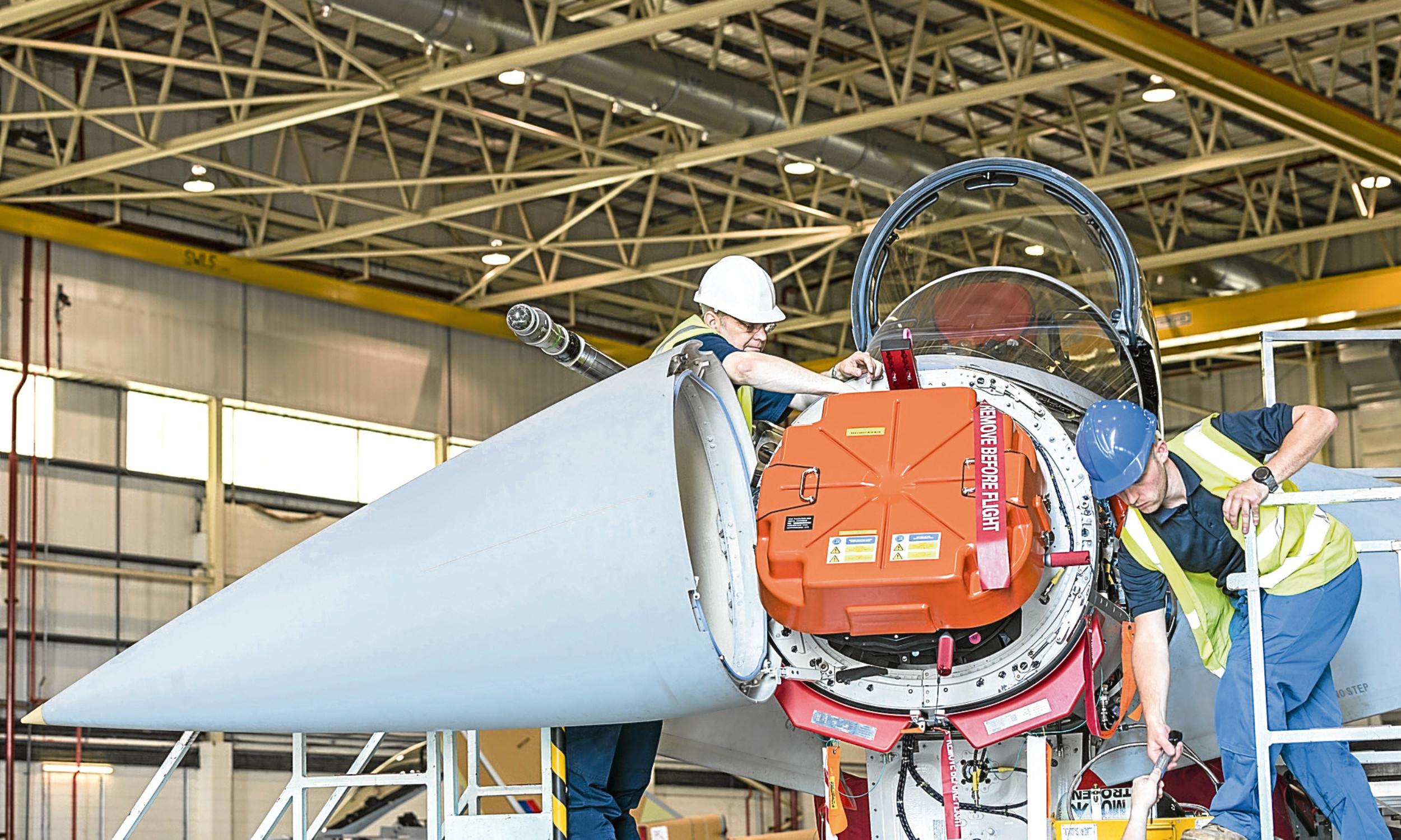 BAE Systems engineers for an E-Scan radar system to a Typhoon jet