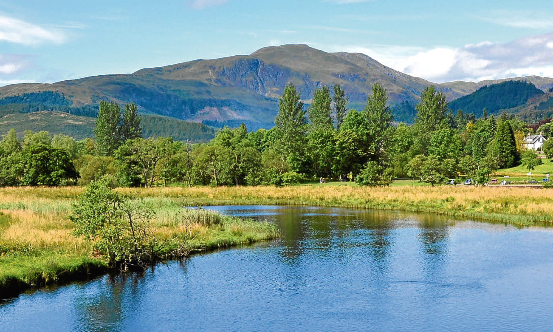 Ben Ledi, which formed the backdrop to a day spent observing a river in the Trossachs and listening to its sounds.