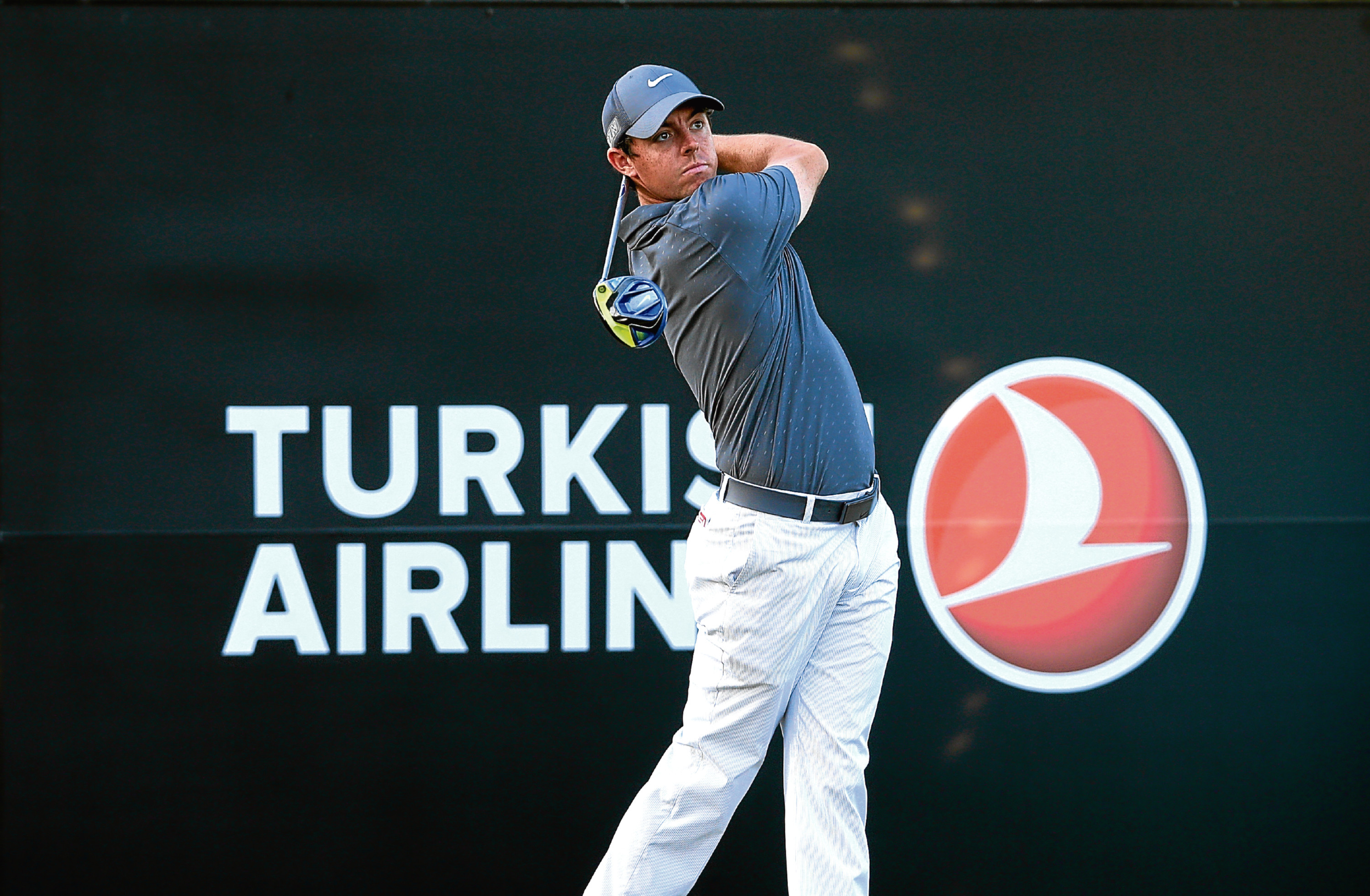 Rory McIlroy at last year's Turkish Airlines Open in Antalya. THis year's event is in doubt due to security concerns.