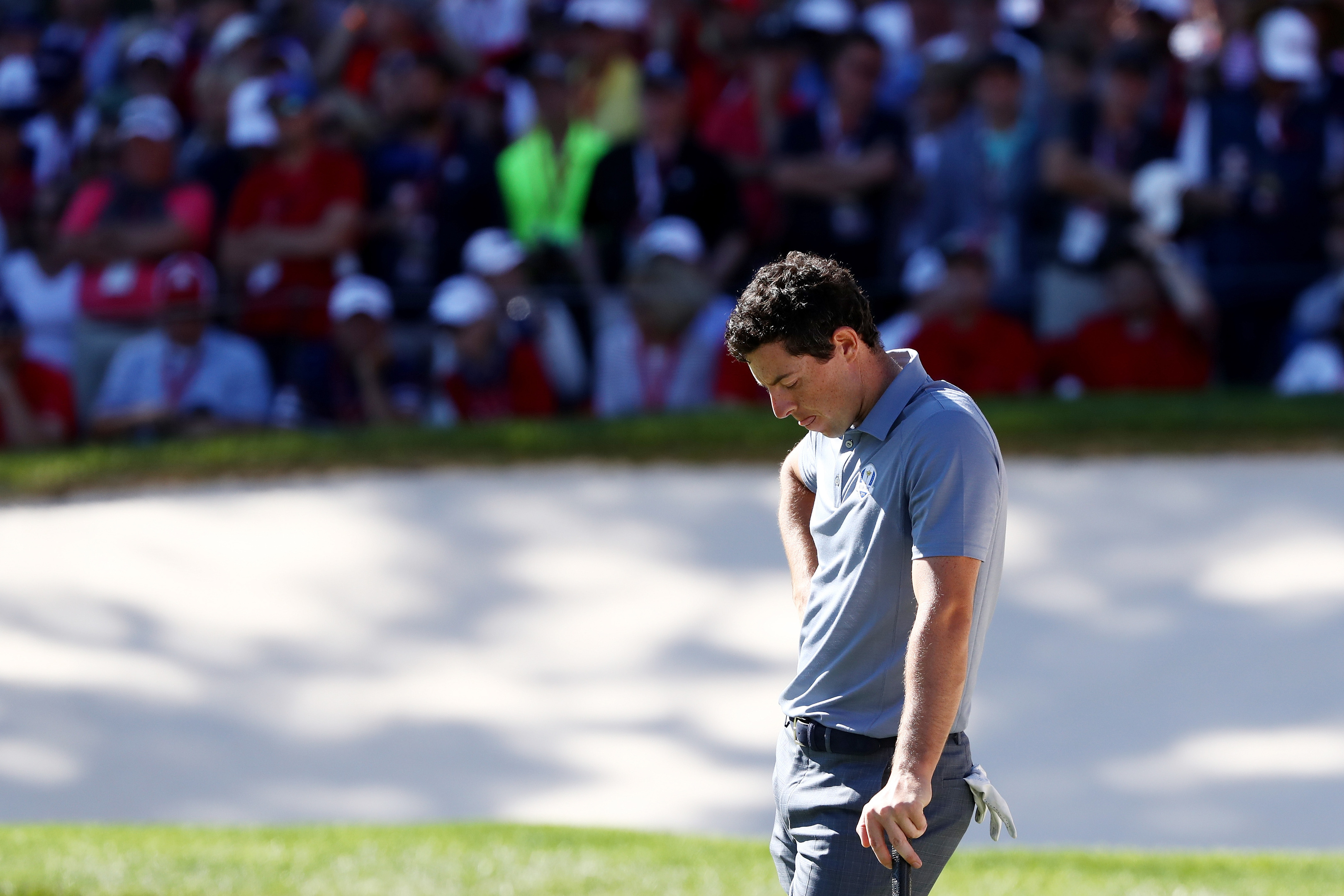 Rory McIlroy couldn't win the battle of the both team's big guns in the singles at the Ryder Cup.