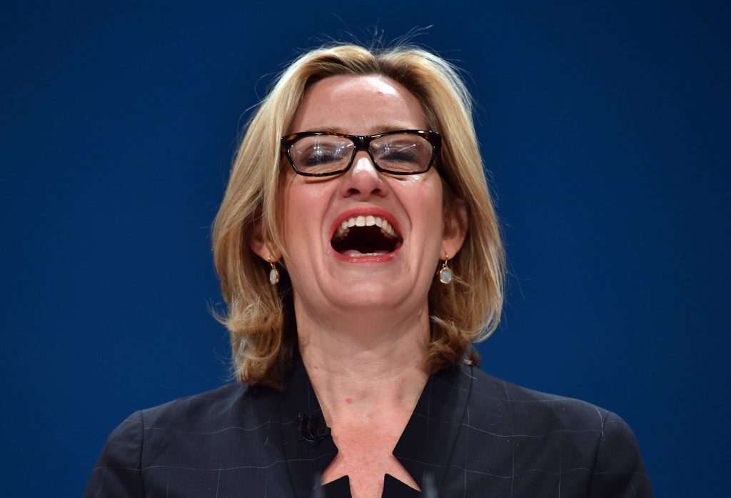 Amber Rudd delivers a her first speech as Home Secretary.