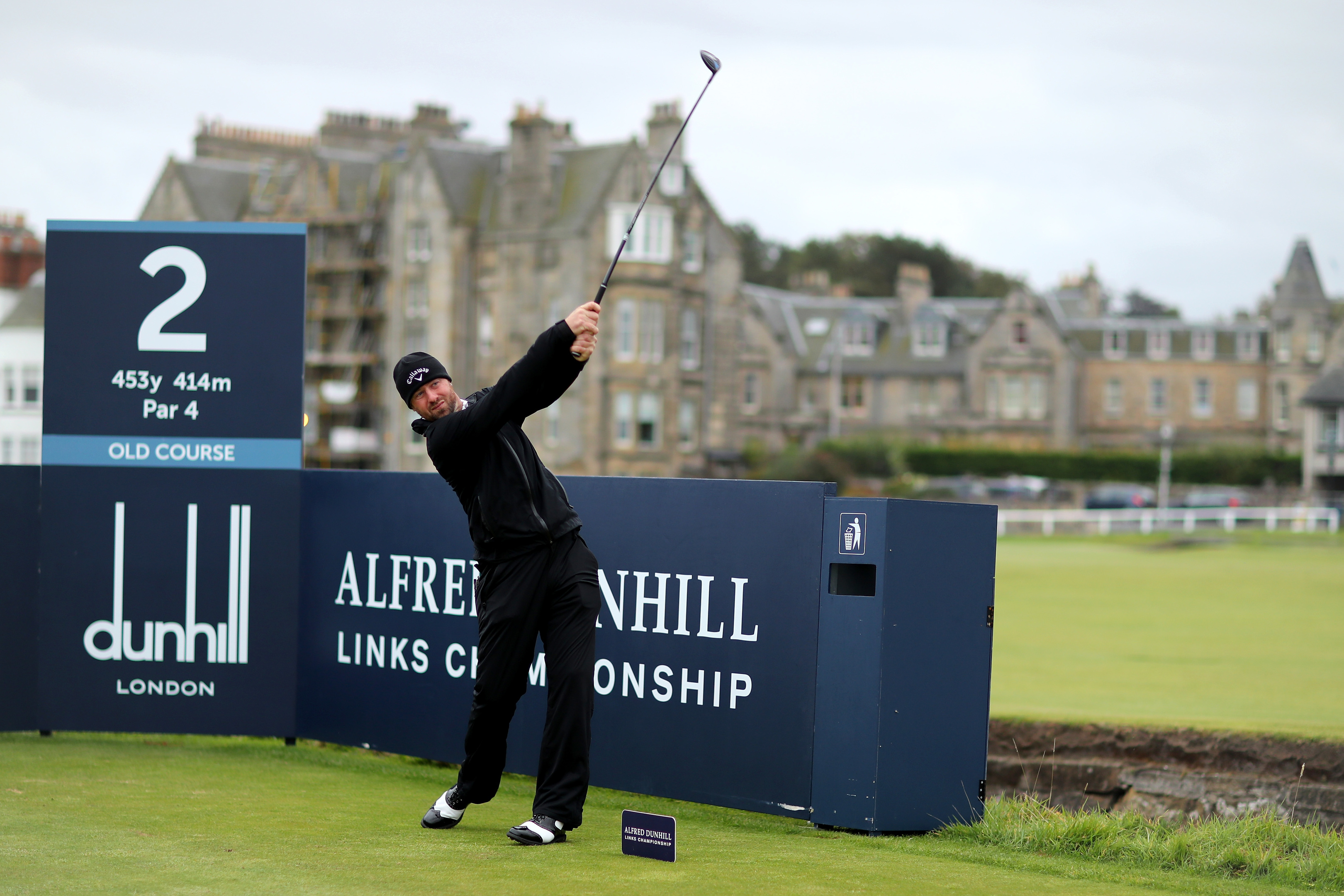 Craig Lee at the Dunhill Links, where a 24th place finish helped his Tour card campaign.