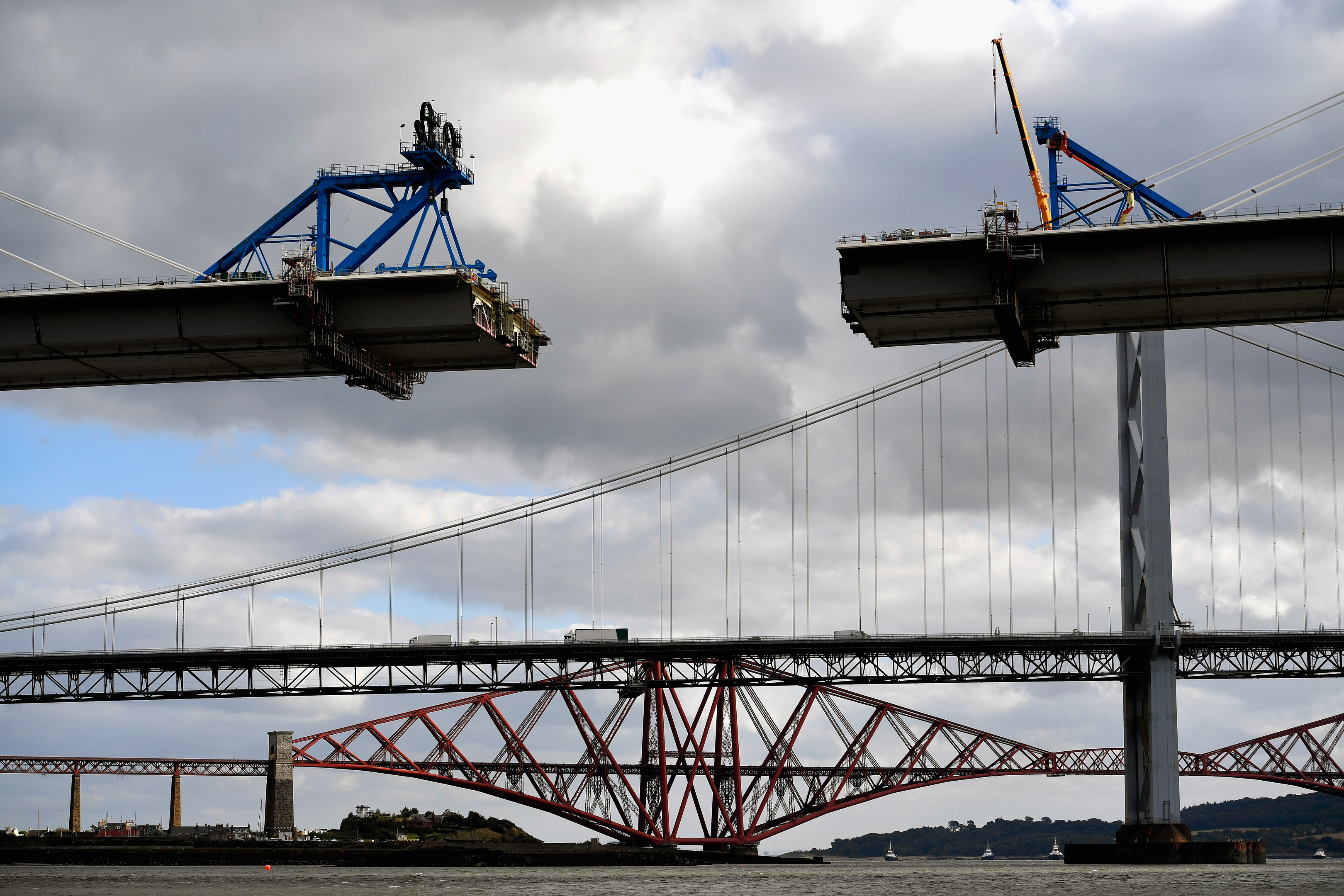 A view underneath the new Forth Crossing