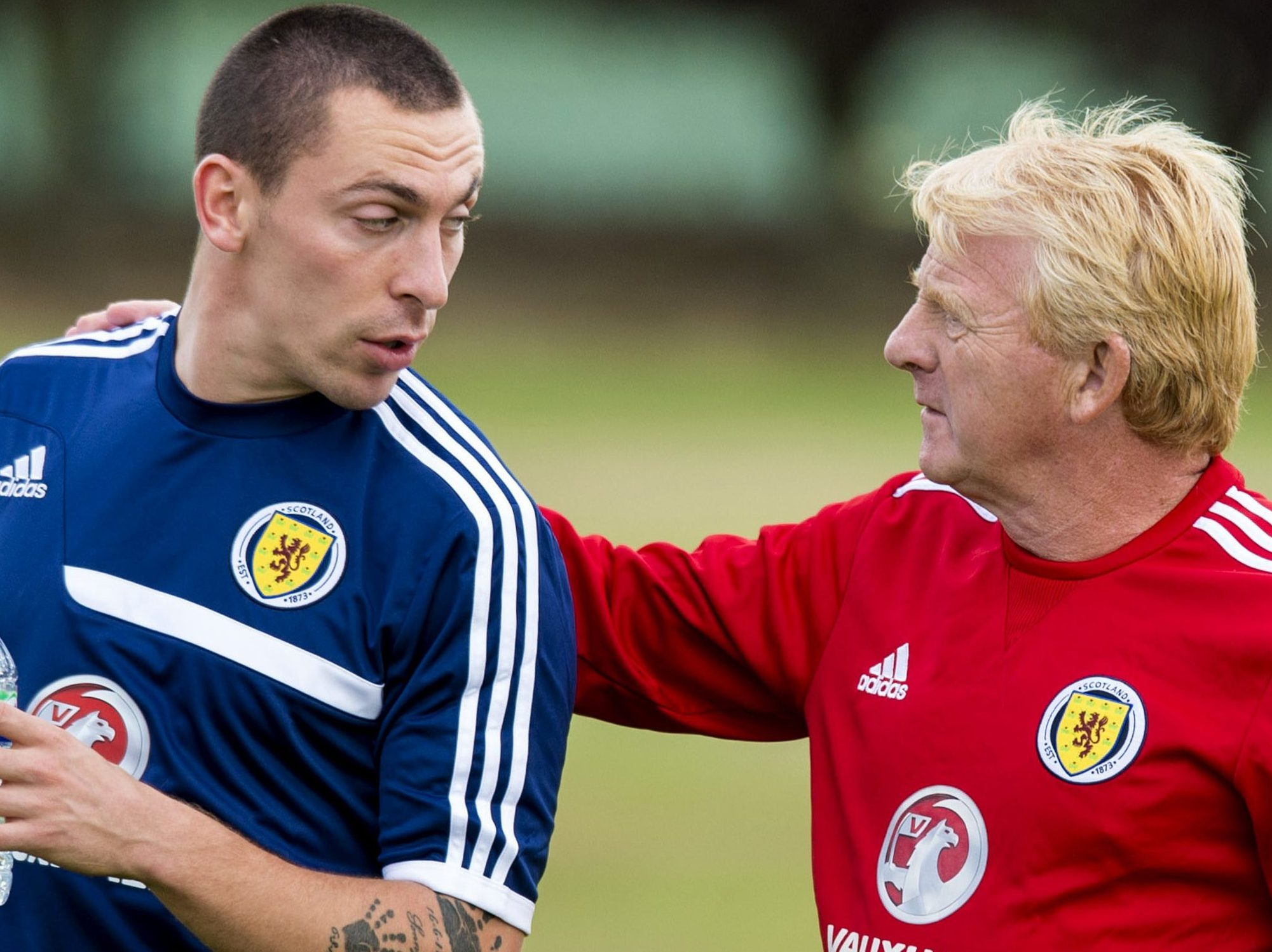 Soon to be reunited - Scott Brown and Gordon Strachan.