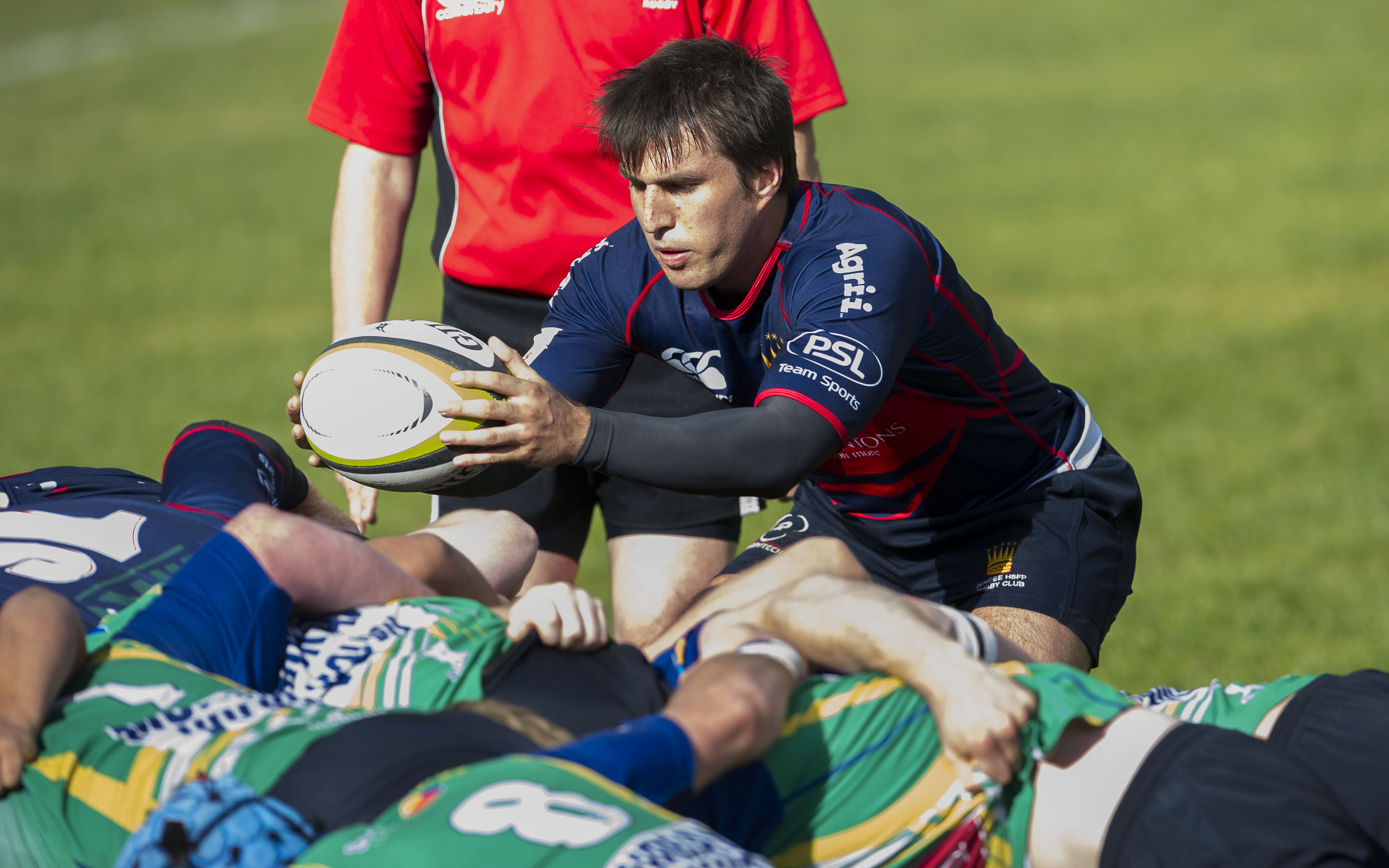 Dundee High Rugby captain and scrum-half Andy Dymock.
