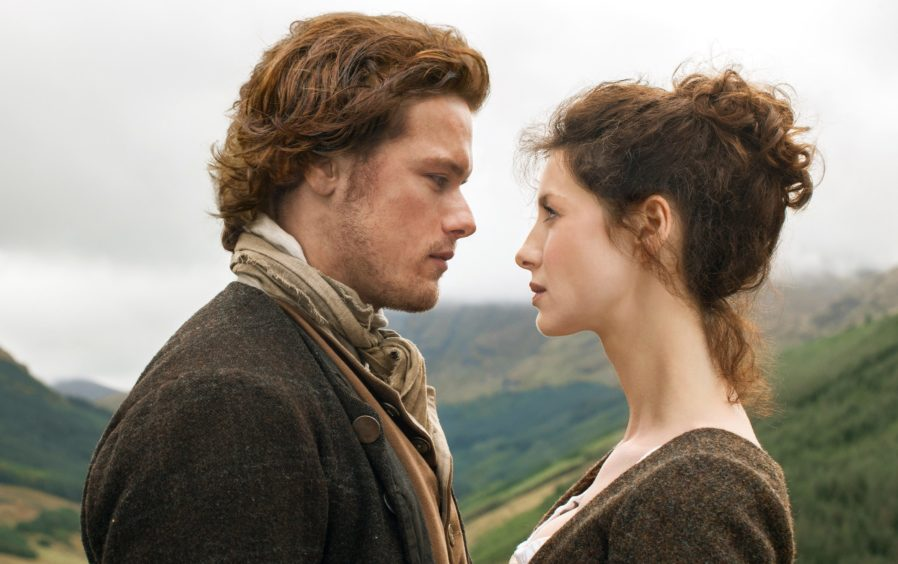 Sam Heaughan and Caitriona Balfe, the lead stars of Outlander
