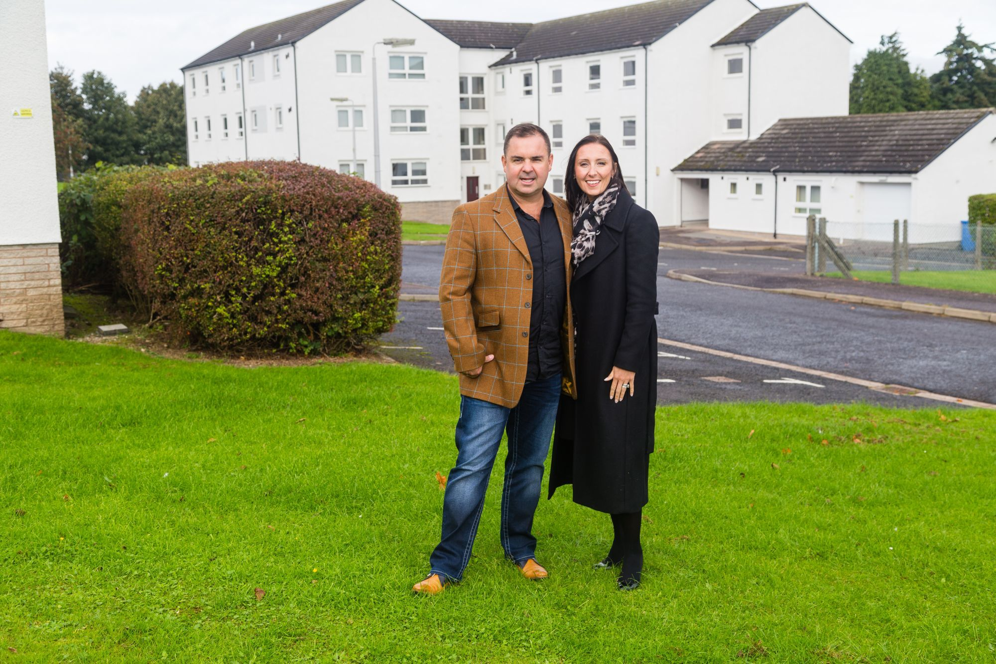 Company founders Leanne and Graeme Carling at Alloway Halls.