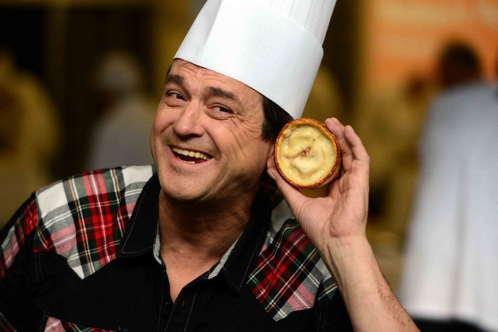 Les McKeown helped judge the World Scotch Pie Championships in Dunfermline in 2013.