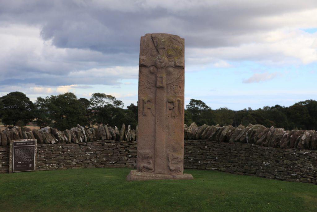 Pictish stones at Aberlemno.