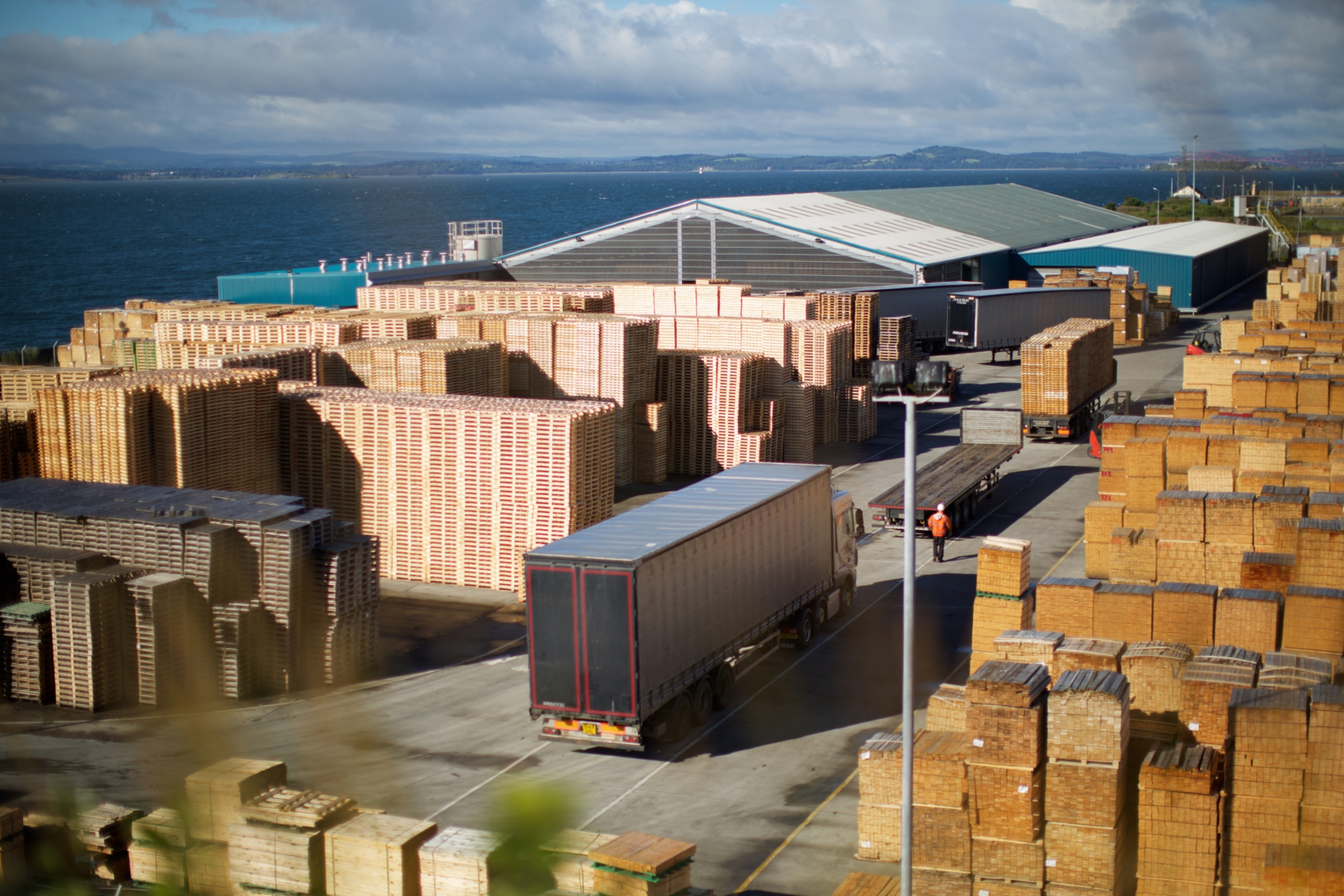 Scott Group's pallet manufacturing site in Burntisland.