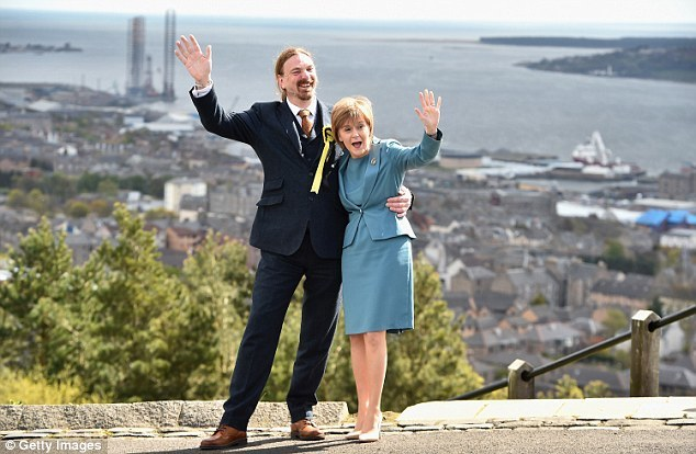 Dundee West MP Chris Law with First Minister Nicola Sturgeon