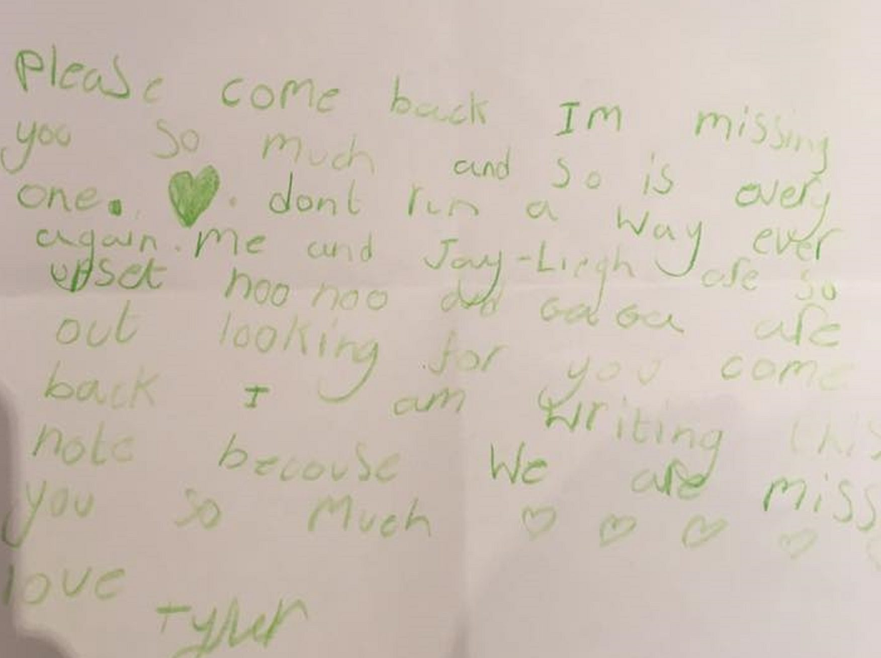The letter from Corrie's niece.