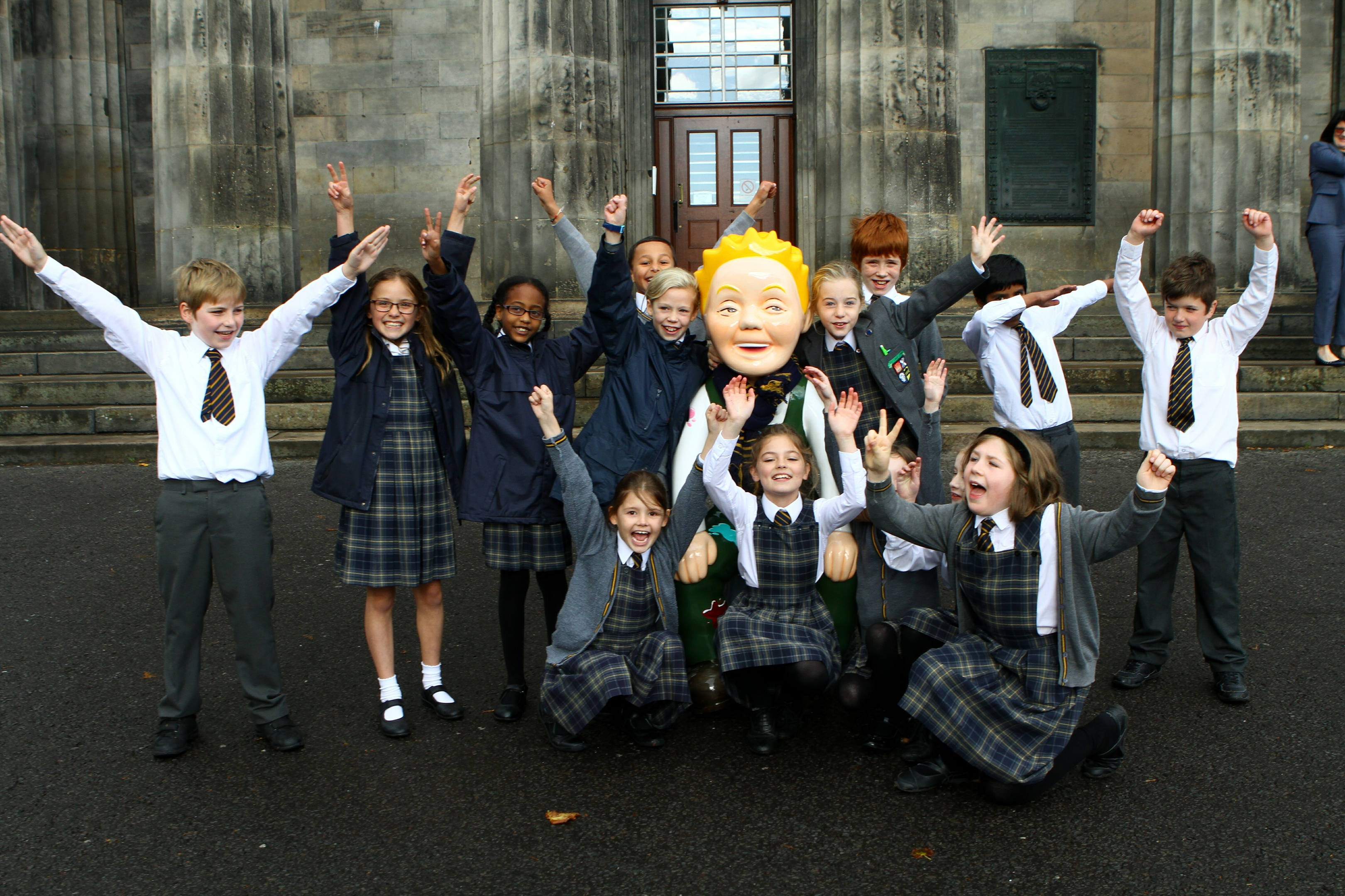 Oor Wullie returned, much to the delight of the pupils.