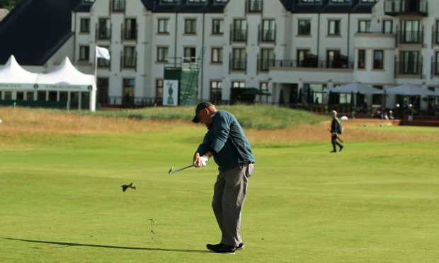 Marco Dawson at the British Senior Open at Carnoustie