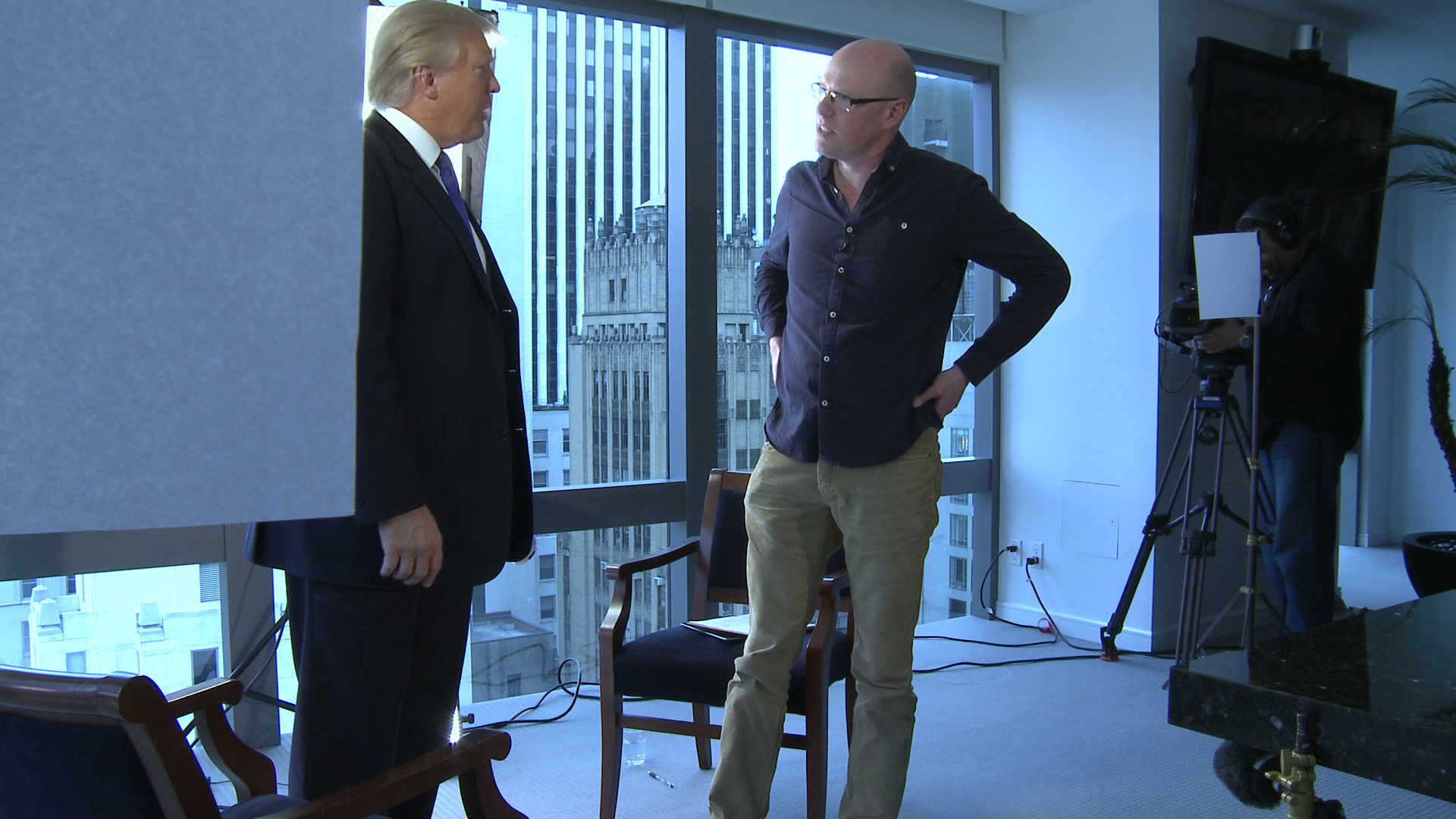 Donald Trump and Montrose filmmaker Anthony Baxter at Trump Tower, New York City in 2014.
