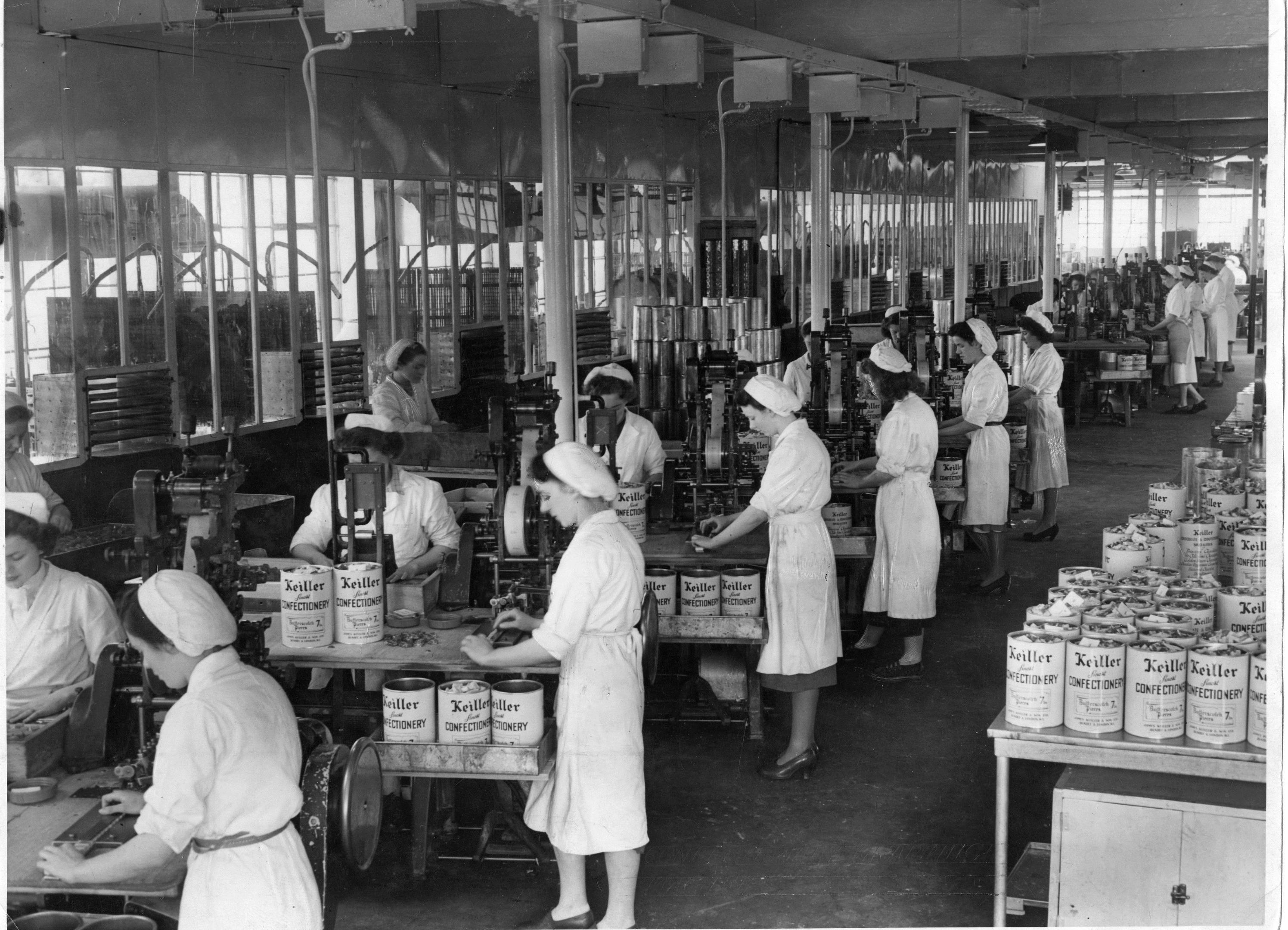 The Keiller factory in Mains Loan made preserves and sweets until it closed in the 1990s.