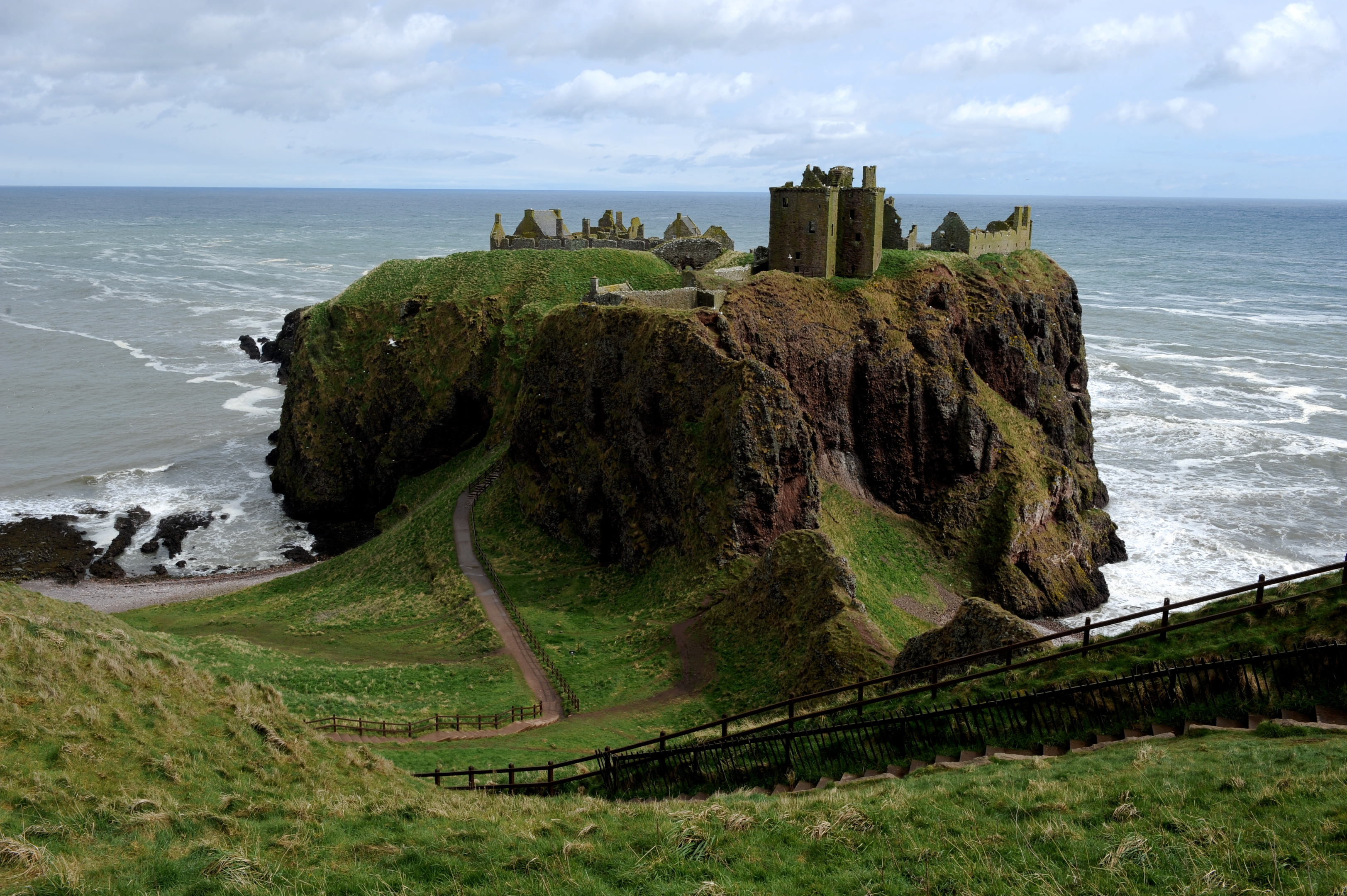 Dunnottar Castle, near Stonehaven, is one of Aberdeenshire's attractions.