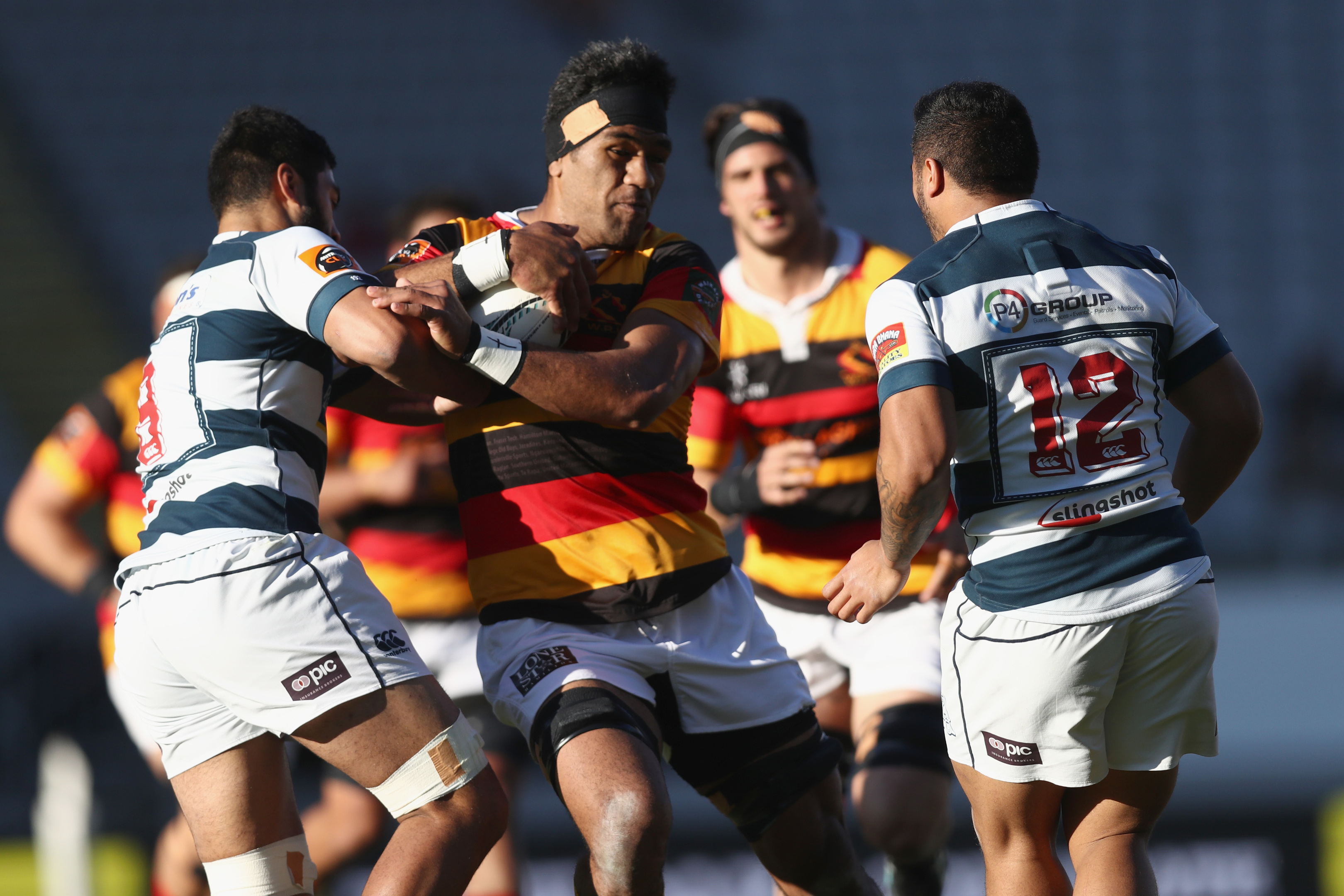 Brian Alainu'uese playing for Waikato in the Mitre Cup in New Zealand last month.