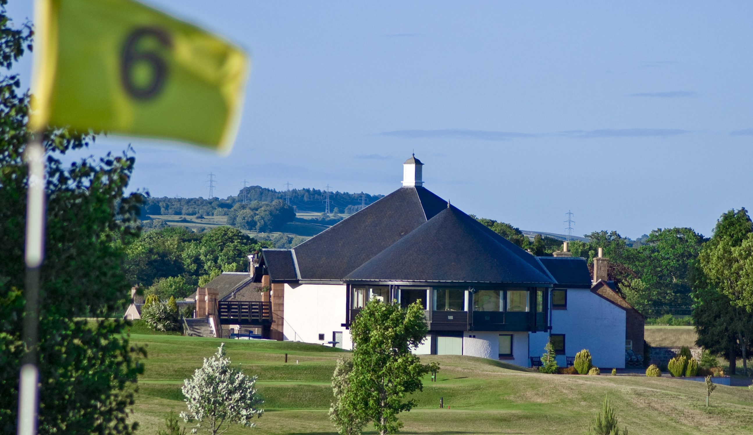 The Glenisla course and clubhouse.