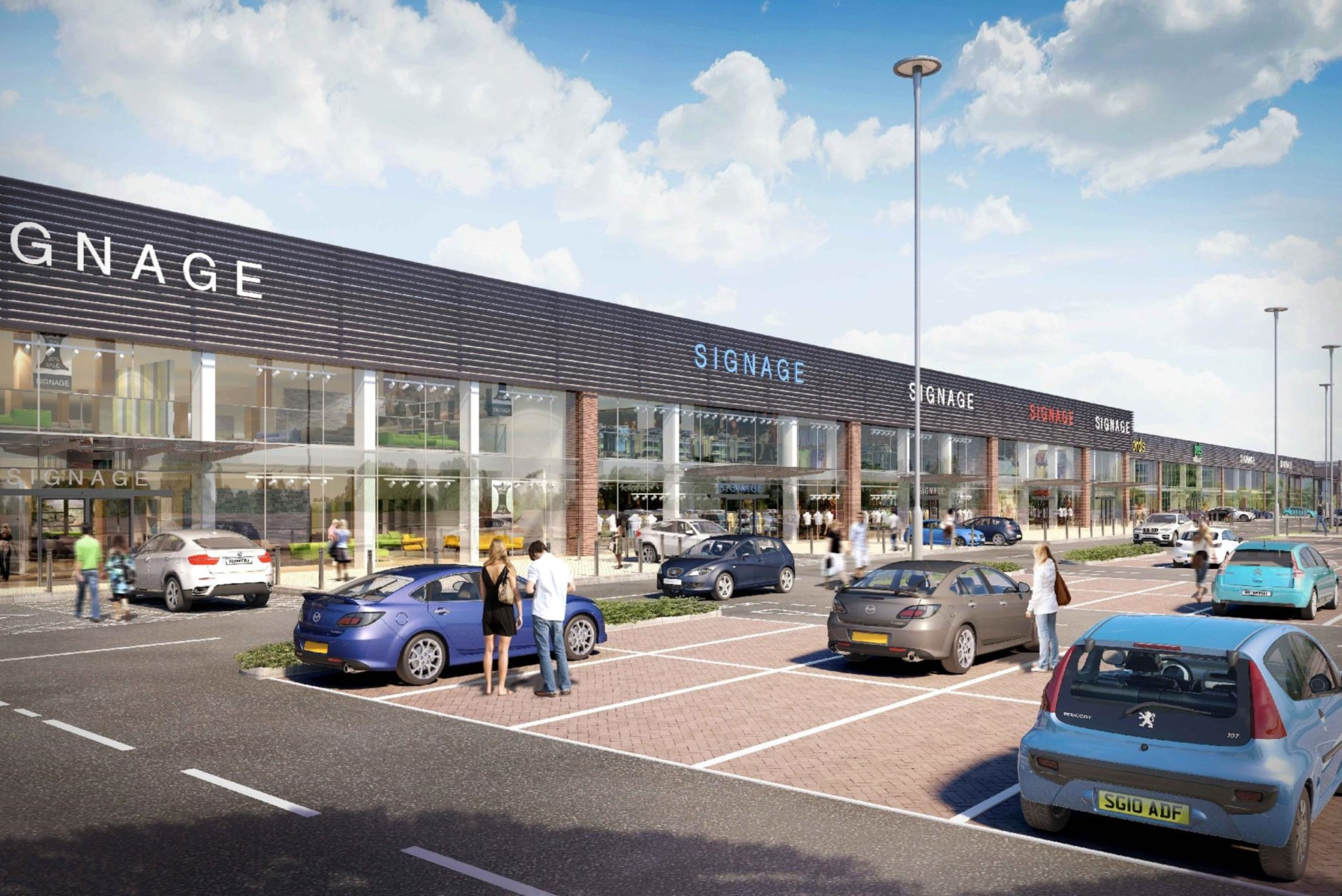 An artist's impression of the revised former Homebase store.