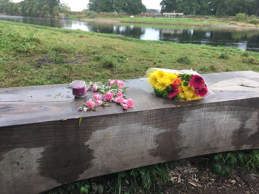 Tributes have been laid near to where Kathleen Harkin was last seen.