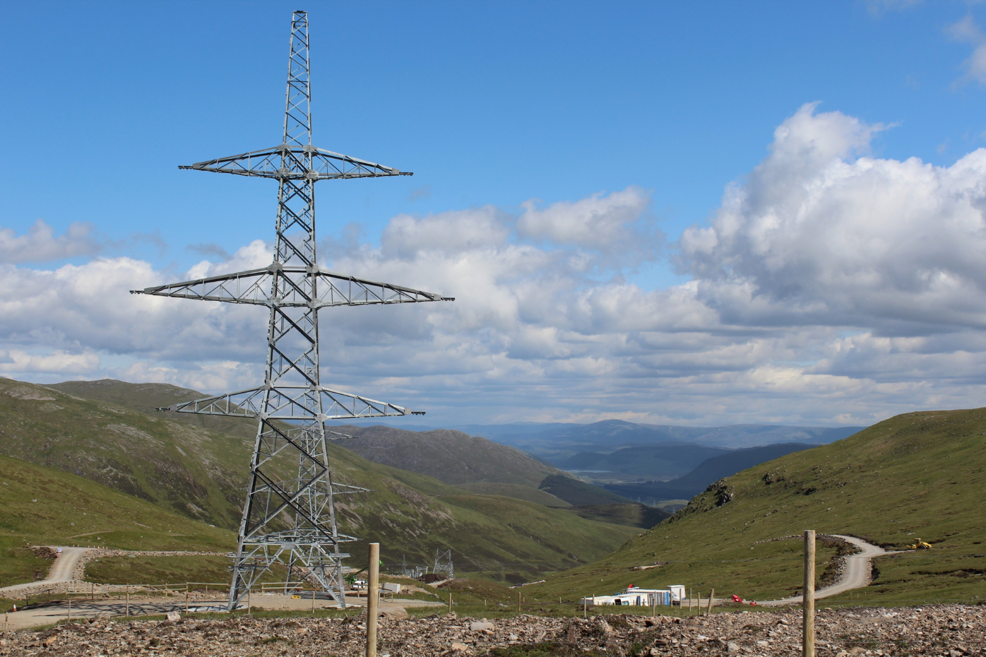 The Beauly to Denny line construction hit all manner of milestones, including that of the highest elevated transmission tower in the UK, situated on the Corrieyairack Pass.