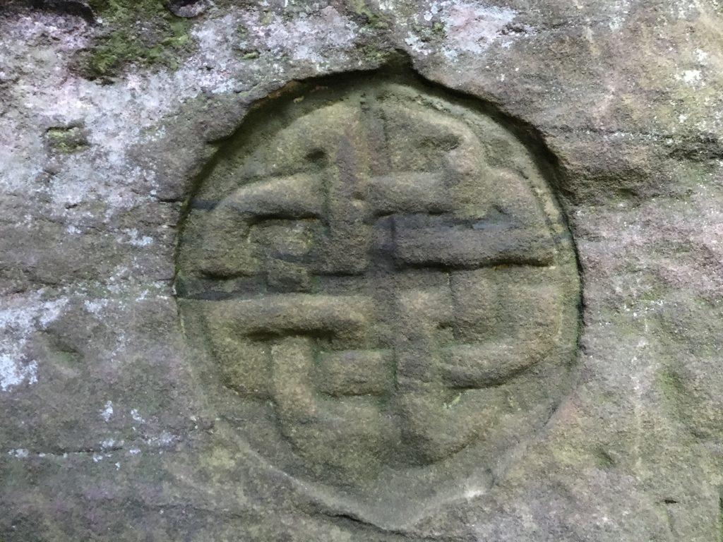 Celtic markings at Dunino Den