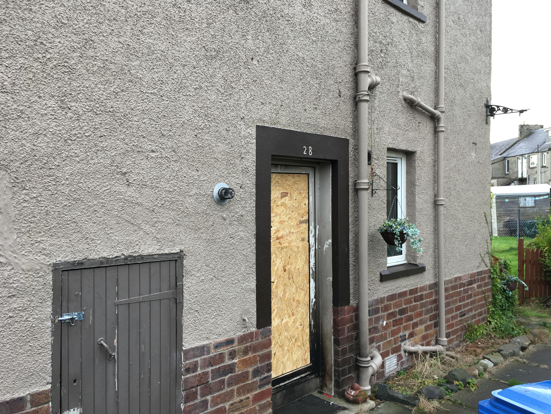 The flat in Alison Street, Kirkcaldy.