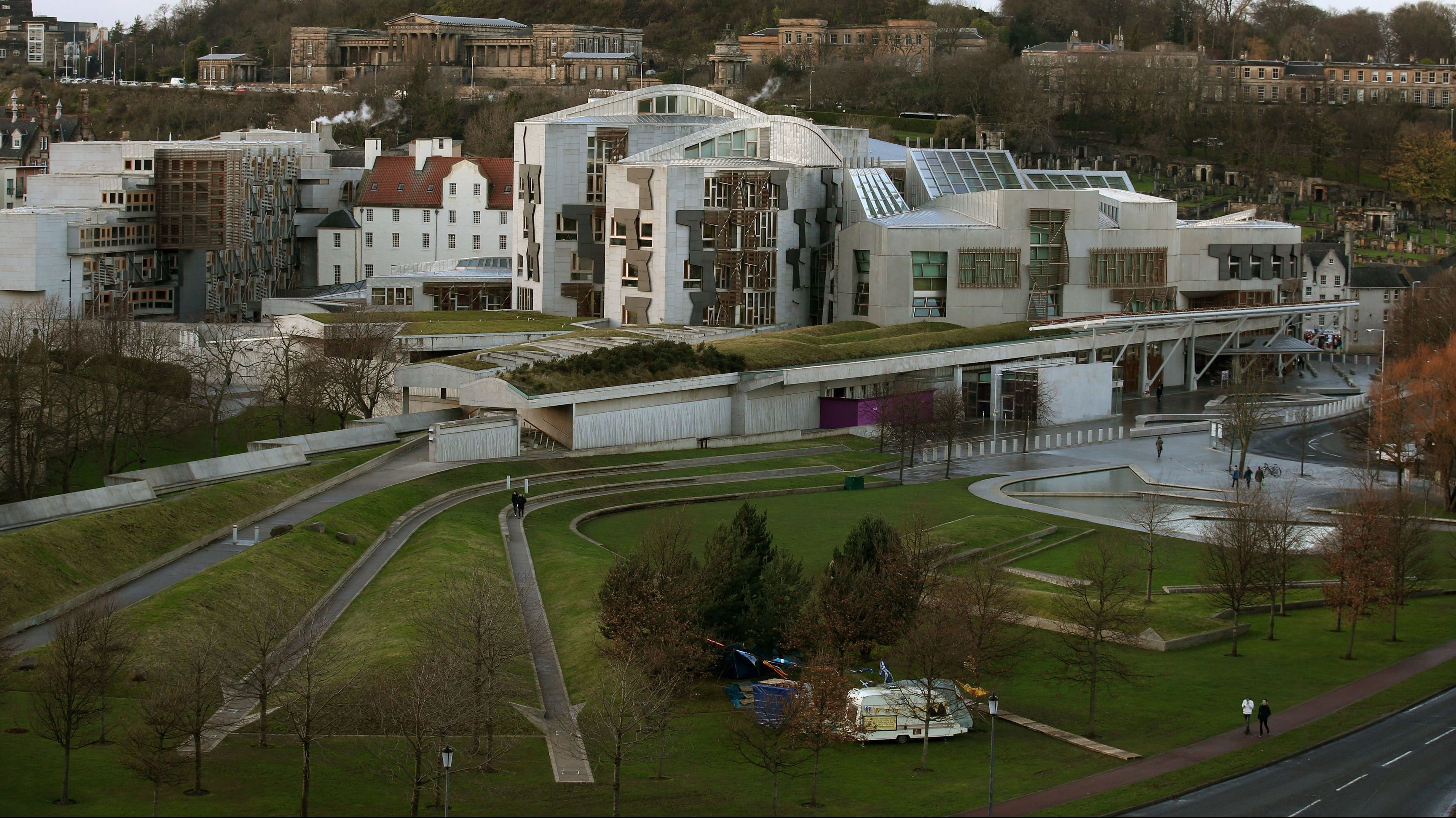 The Independence Camp was established within the grounds of the Scottish Parliament in Edinburgh.