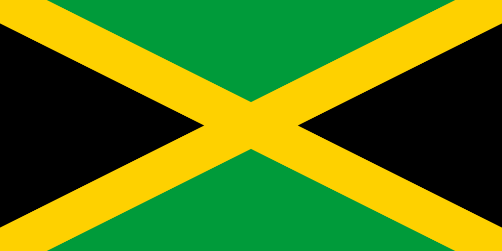 The Jamaican flag - based on the design of the saltire!