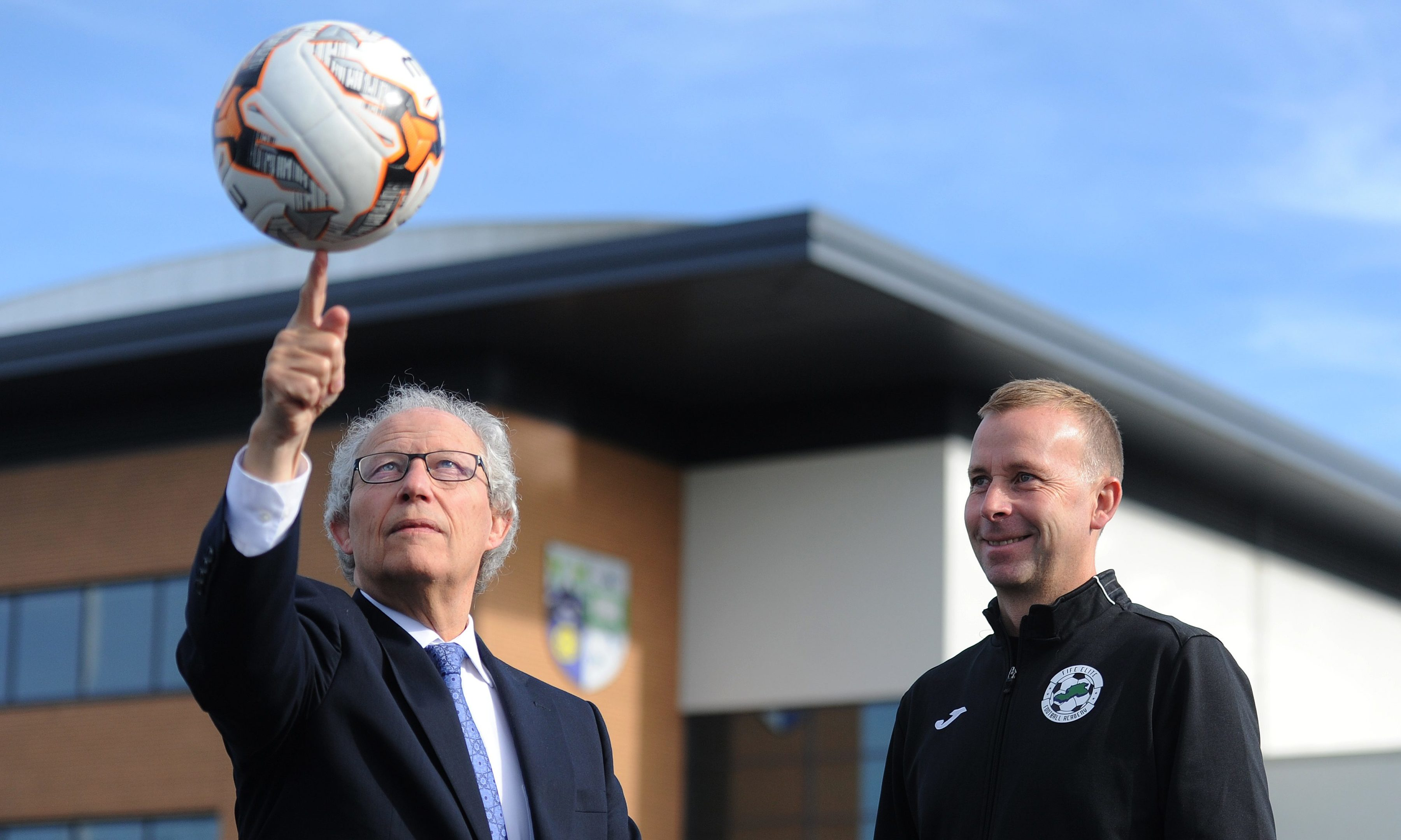 Henry McLeish with head of academy coaching Stephen Wright.