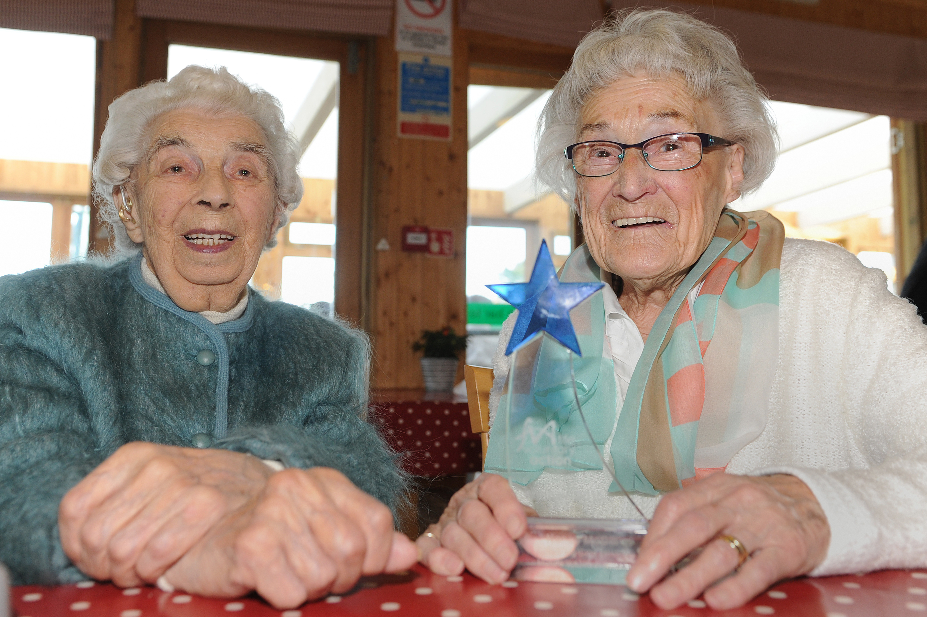 Nancy McGill, 94, (right) with Ethil McKay, 101
