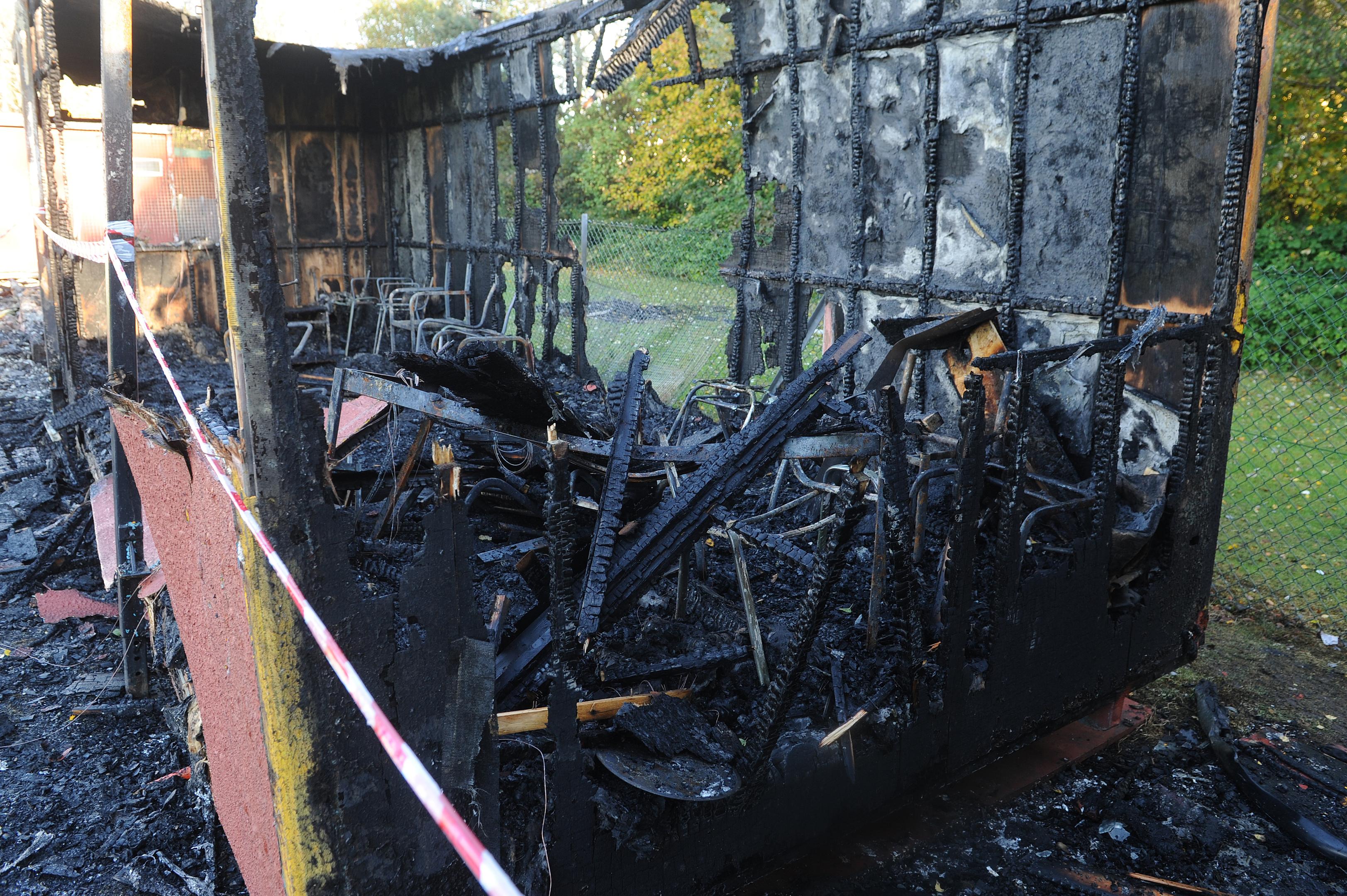 The scene at Denfield Park, Denburn Road, Kirkcaldy.