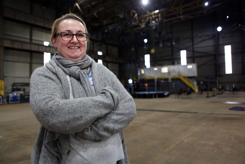 Producer Jude Doherty inside Shed 36.