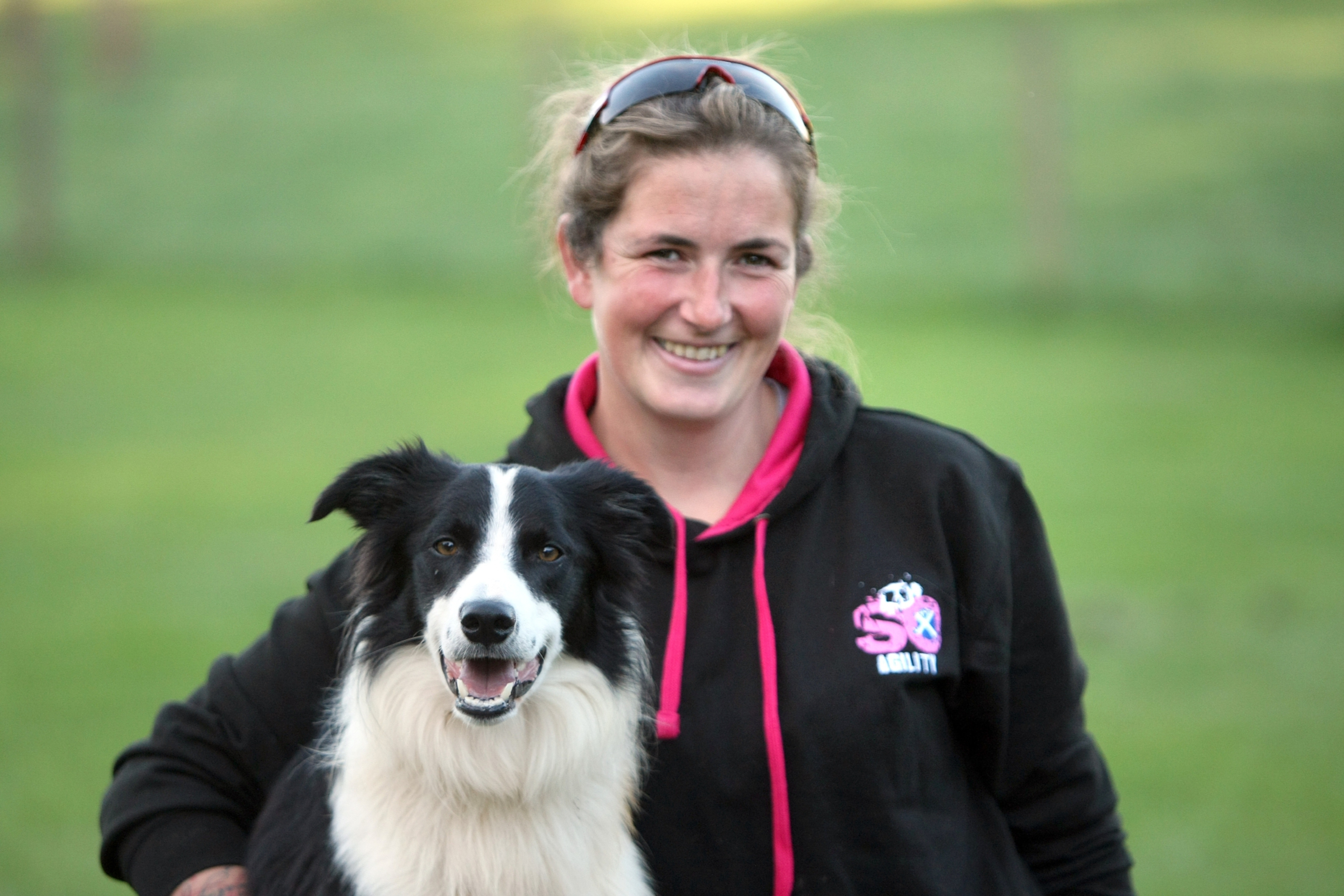 Hannah Paterson and border collie practice their routine in St Vigeans.