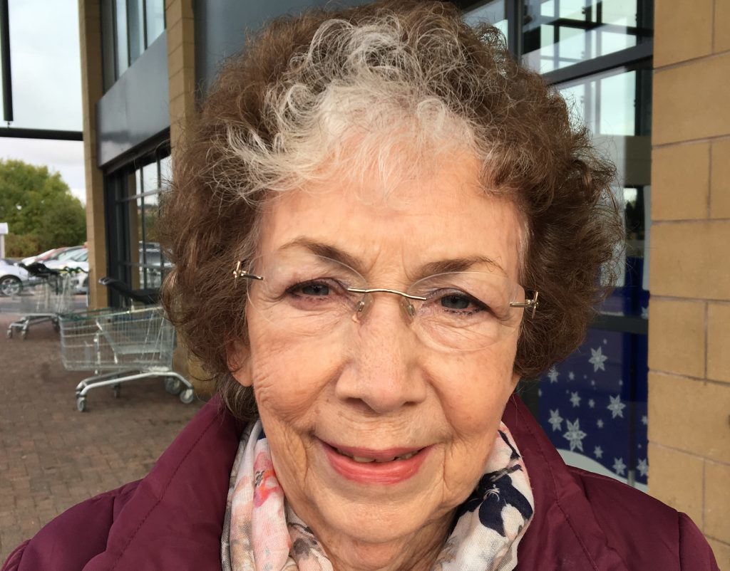 May Maclaren, retired administrator of the City Road area, is a No voter