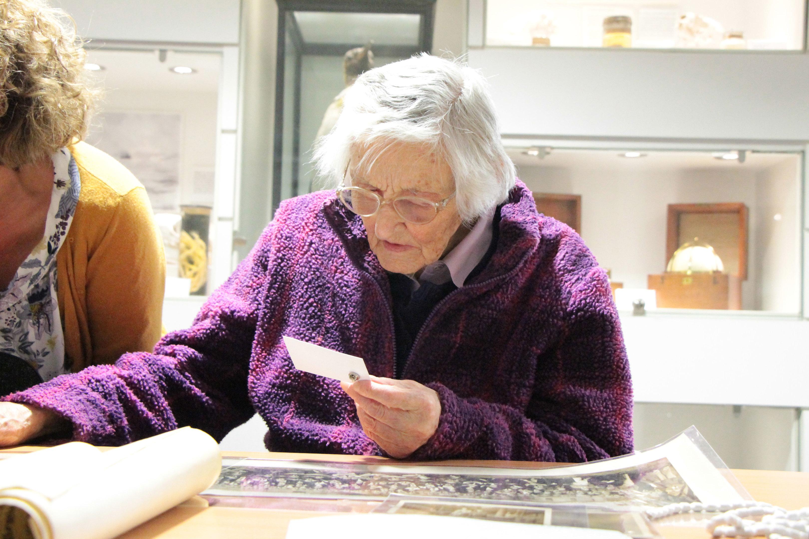 Mrs Walden visited the university's archives.