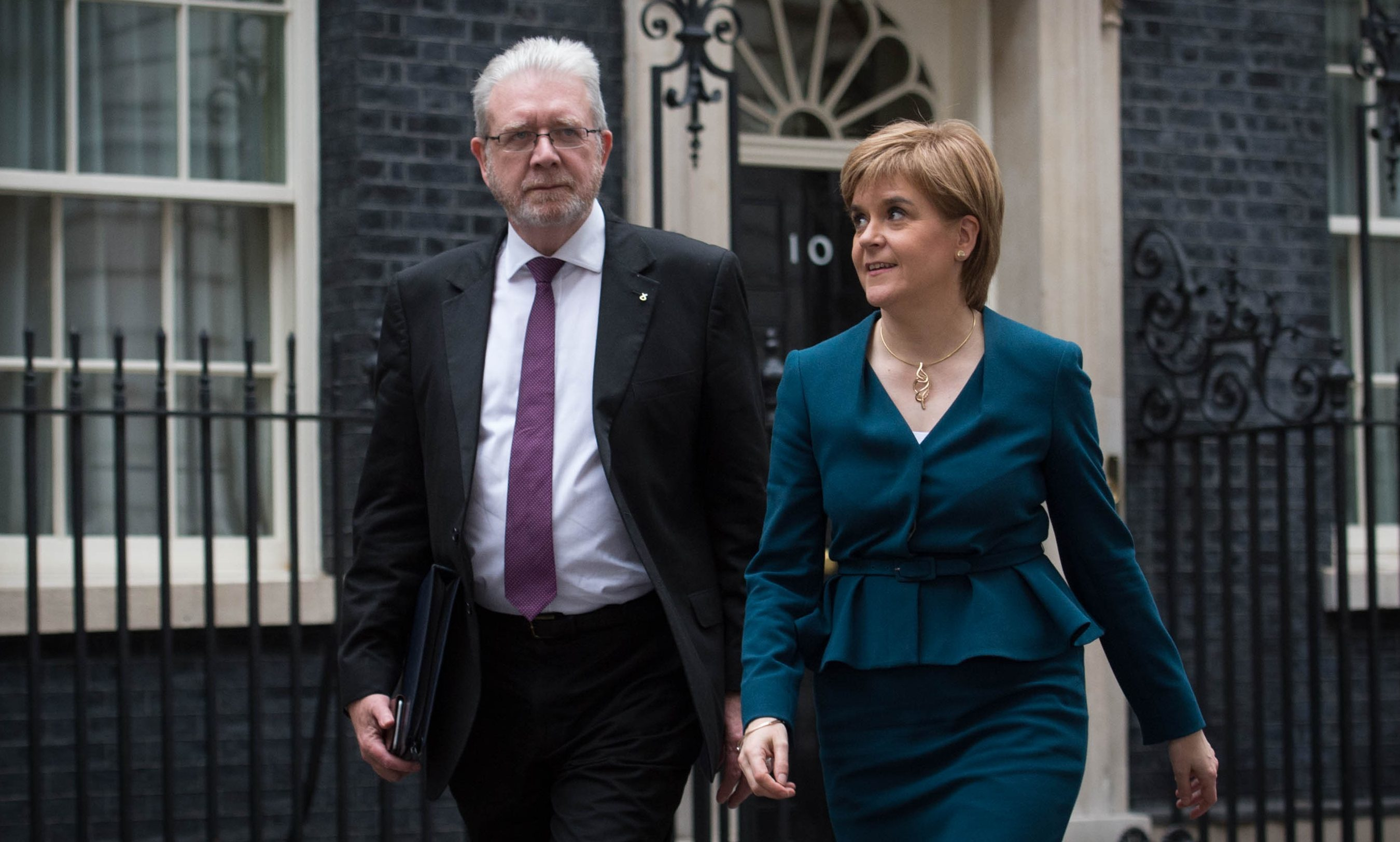 Michael Russell with Nicola Sturgeon